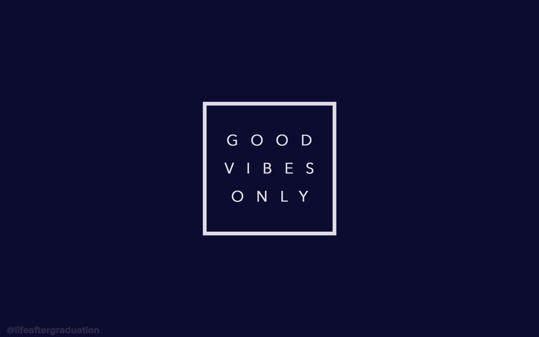 good vibes only (navy) – desktop wallpaper