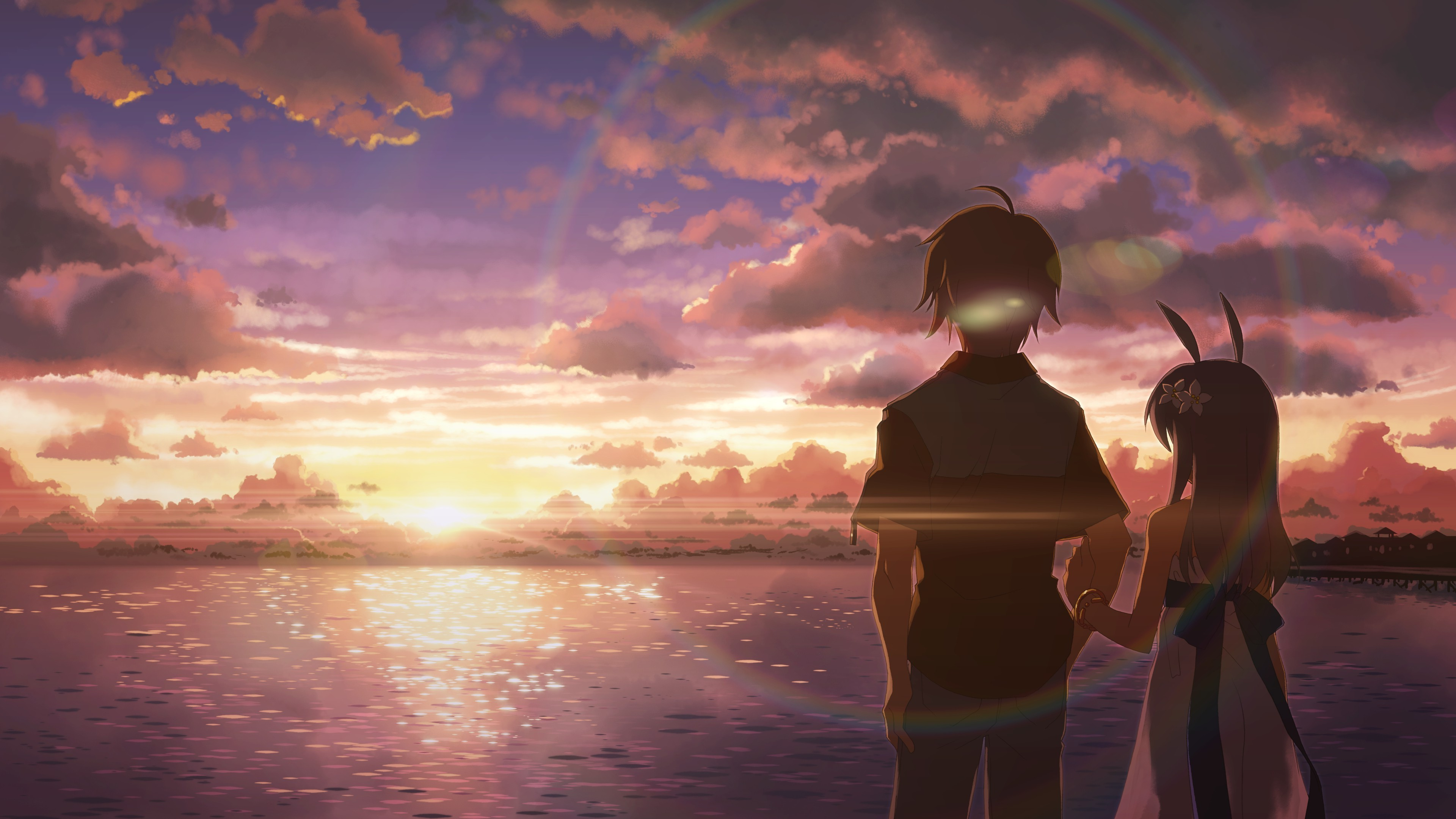 anime, DJ Max, Beach, Sunset, People Wallpapers HD / Desktop and Mobile  Backgrounds