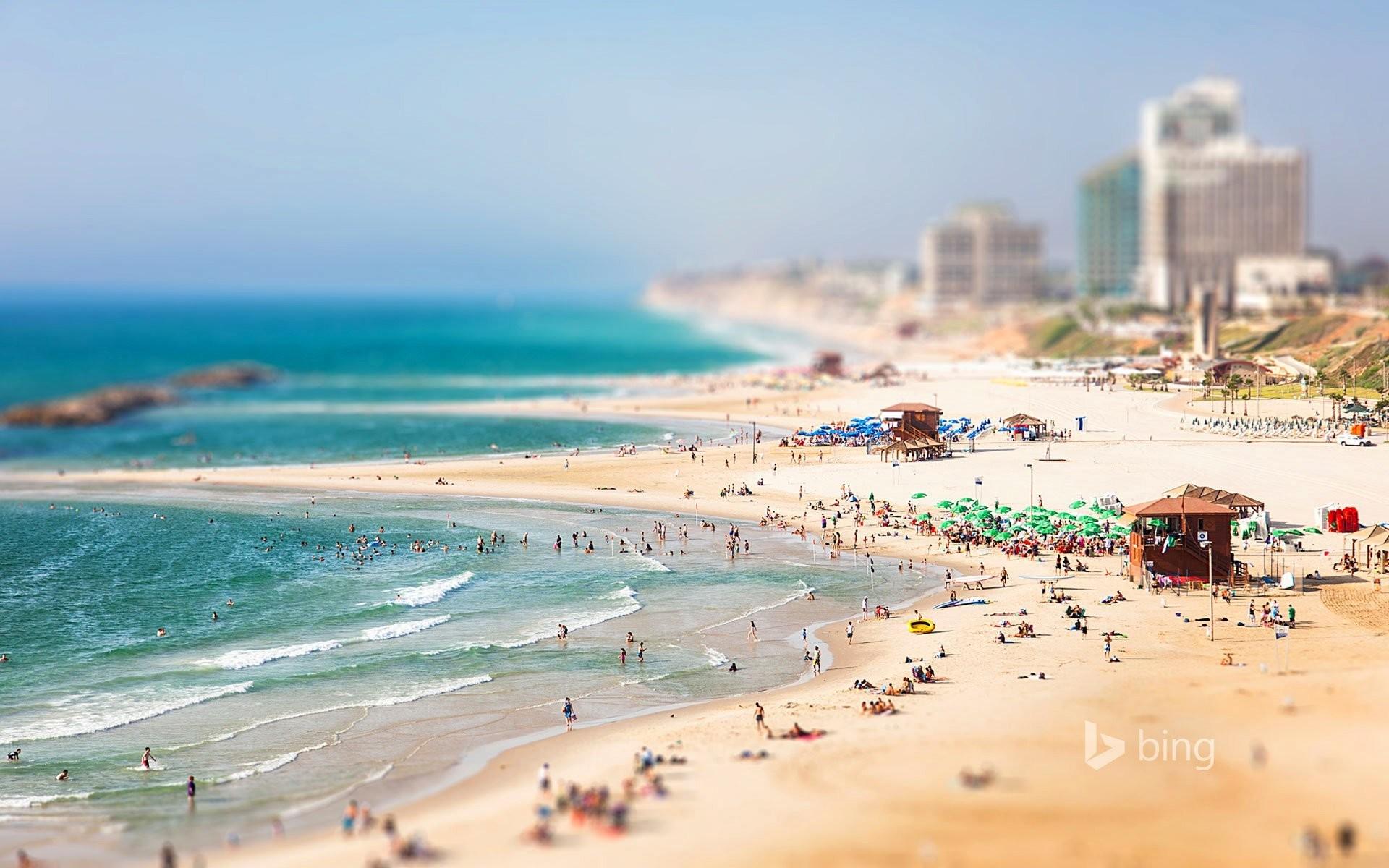 herzliya israel israel sky sea beach people house