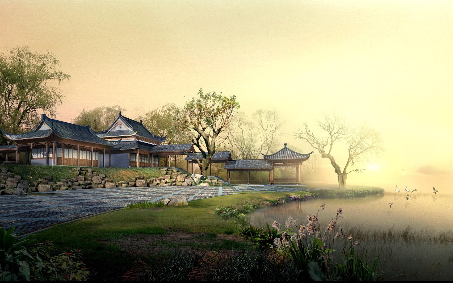 Chinese landscape wallpaper 5 1152×720 Chinese landscape wallpaper .