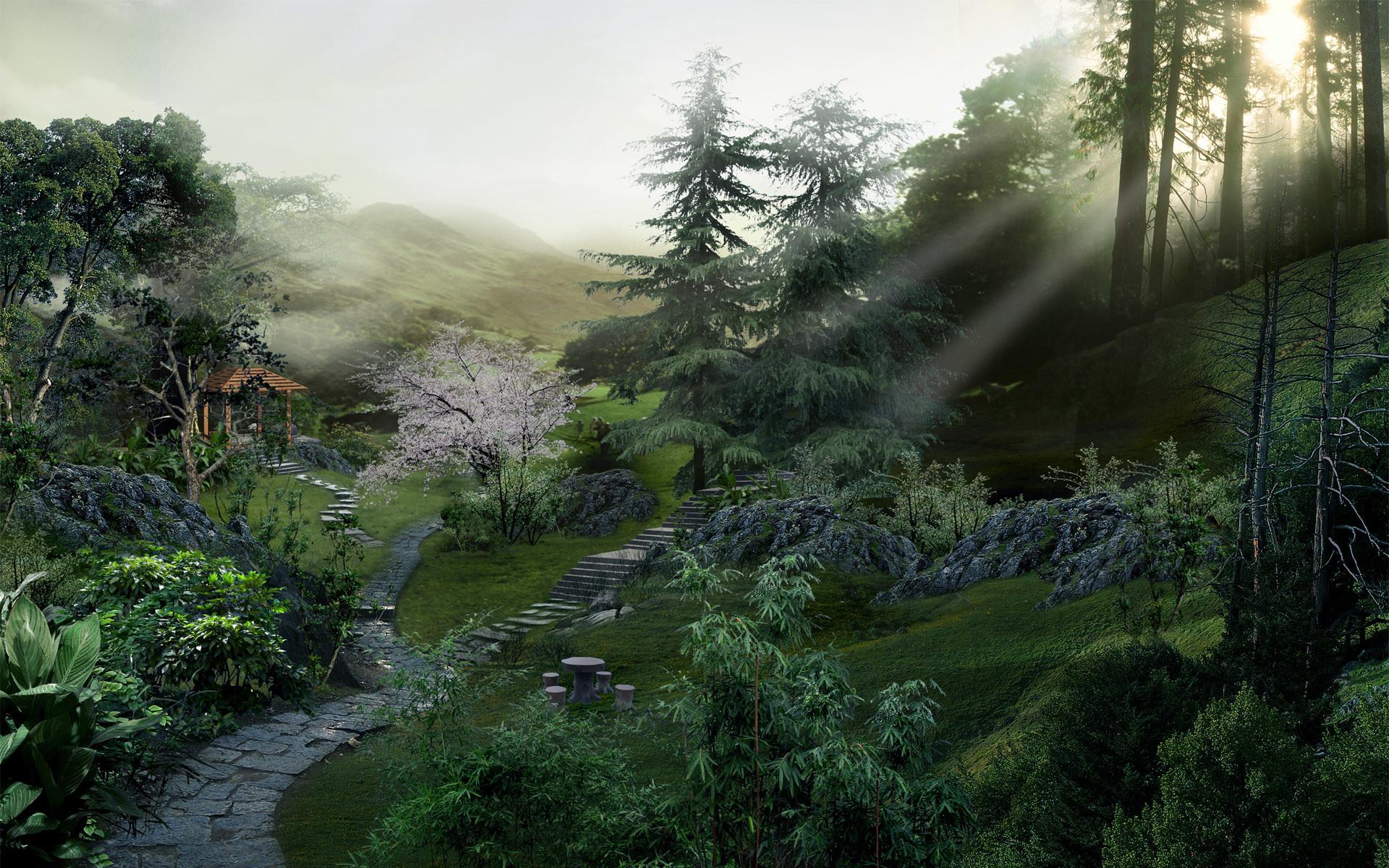 china, landscape, digital, japan, landscapes, wallpaper, keyword .