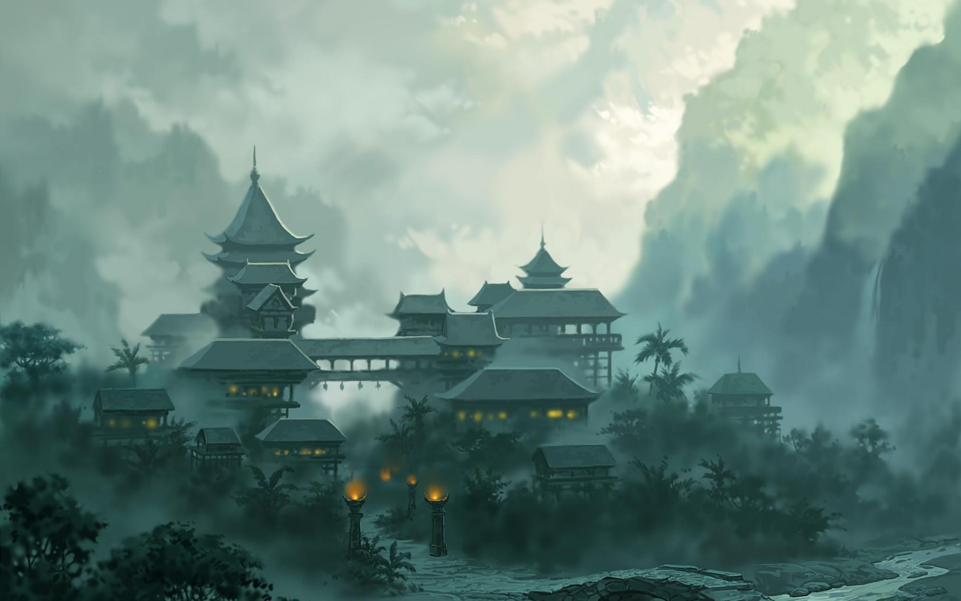 Chinese Mountains by Juhupainting on deviantART | D&D and Fantasy Settings  | Pinterest | Chinese mountains, Matte painting and deviantART