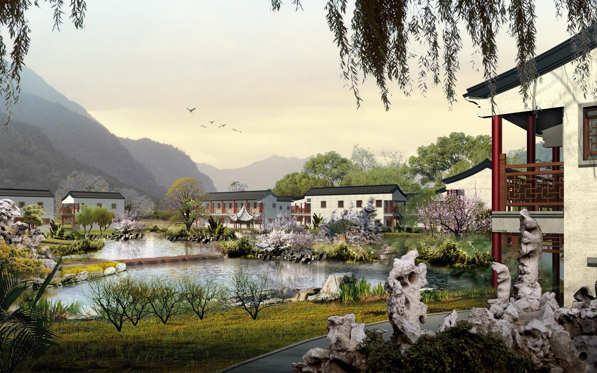 1024×640 chinese village wallpaper 1152×720 chinese village wallpaper .