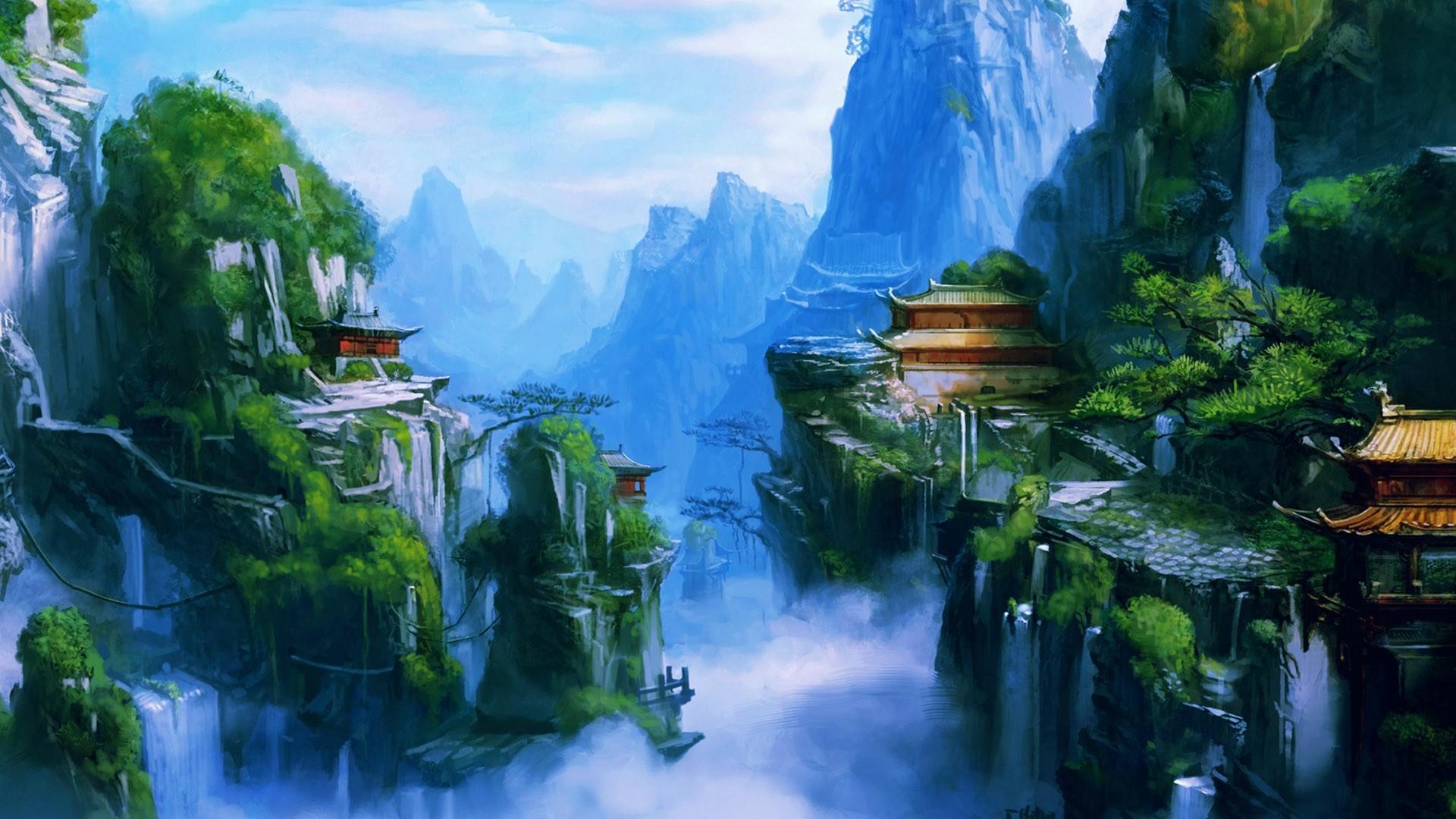 https://www.wallpaperup.com/uploads/wallpapers/2013/01/23/30998/60656f63cb2dabf87bf8c4af2877fd9c.jpg  | Beautiful Asian Art | Pinterest | Fantasy landscape, …