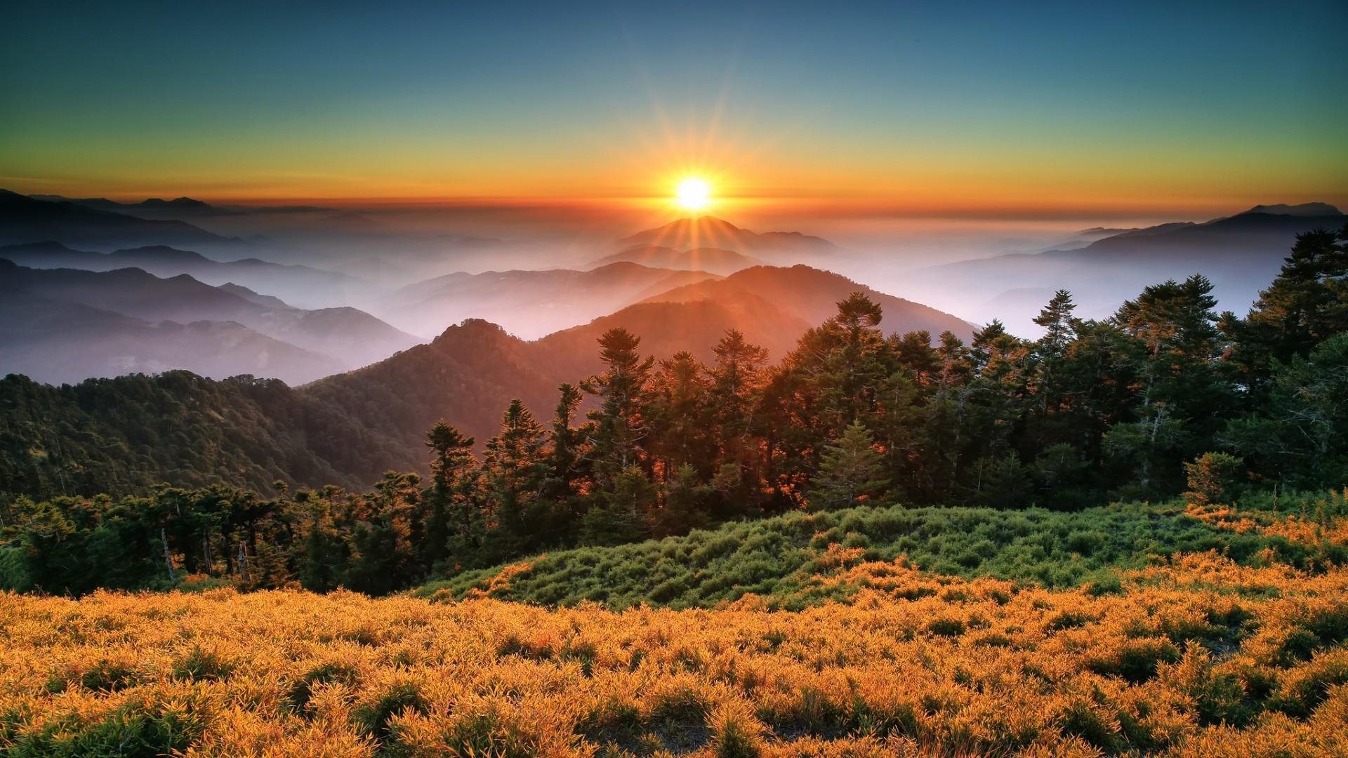 Preview wallpaper taroko national park, china, china, taiwan, sunset,  mountains,
