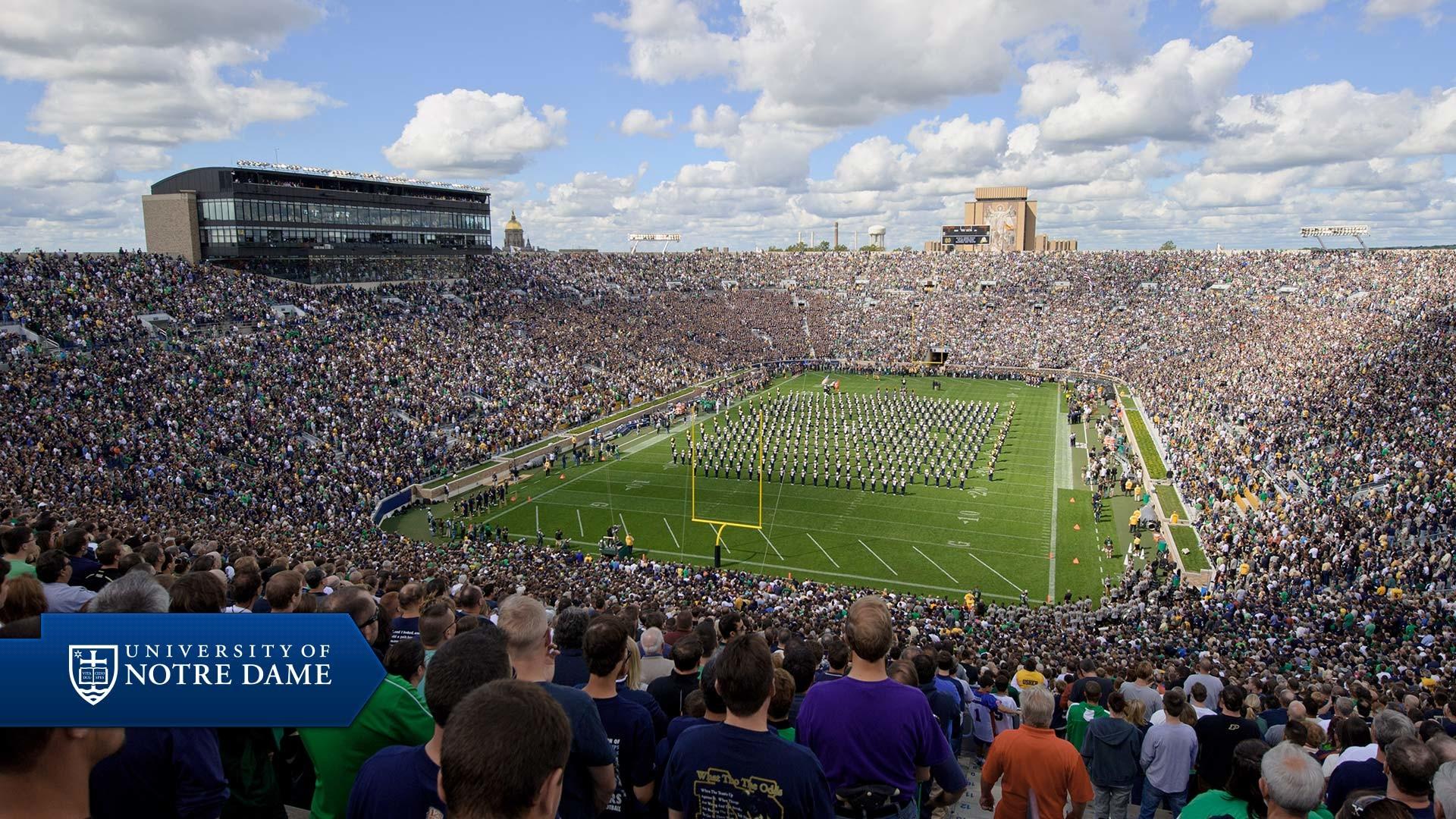 Notre Dame Stadium Background Wallpaper