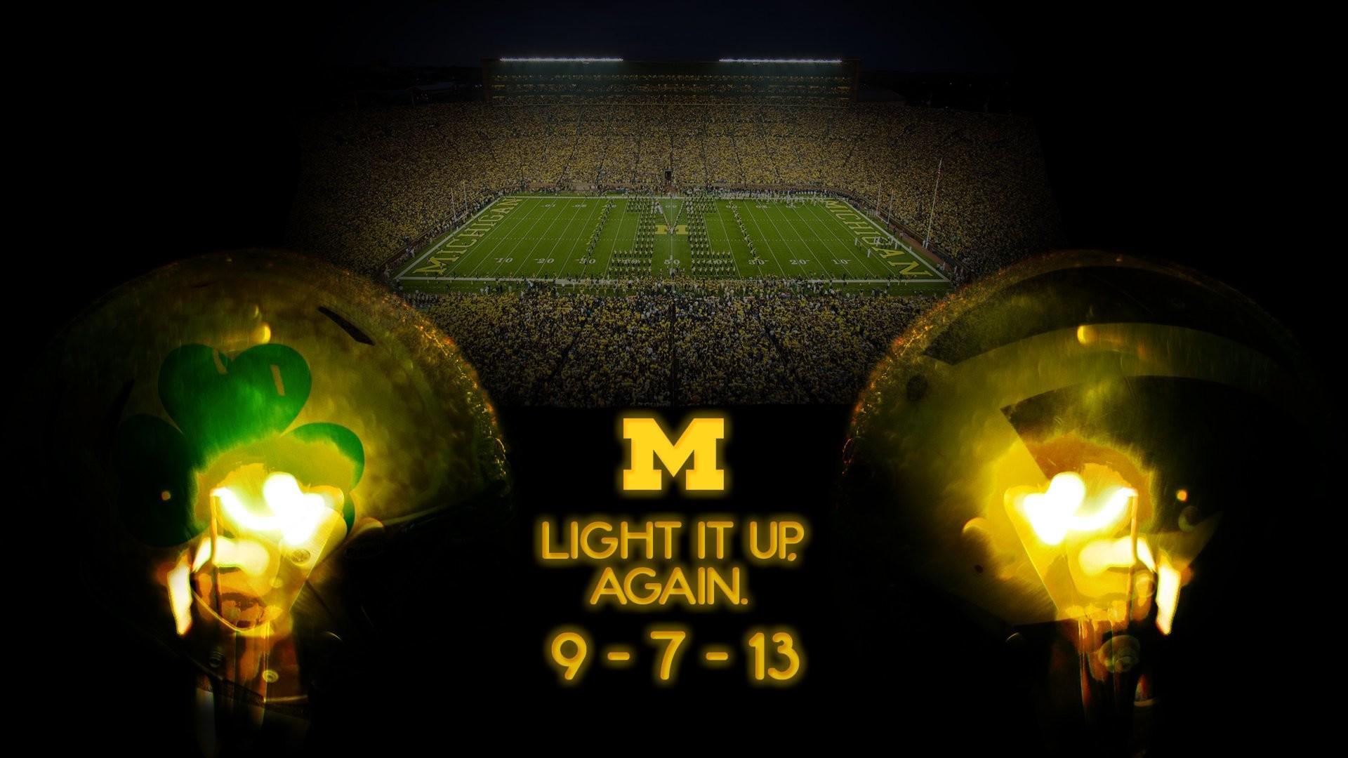 Michigan Vs Notre Dame Under The Lights 2