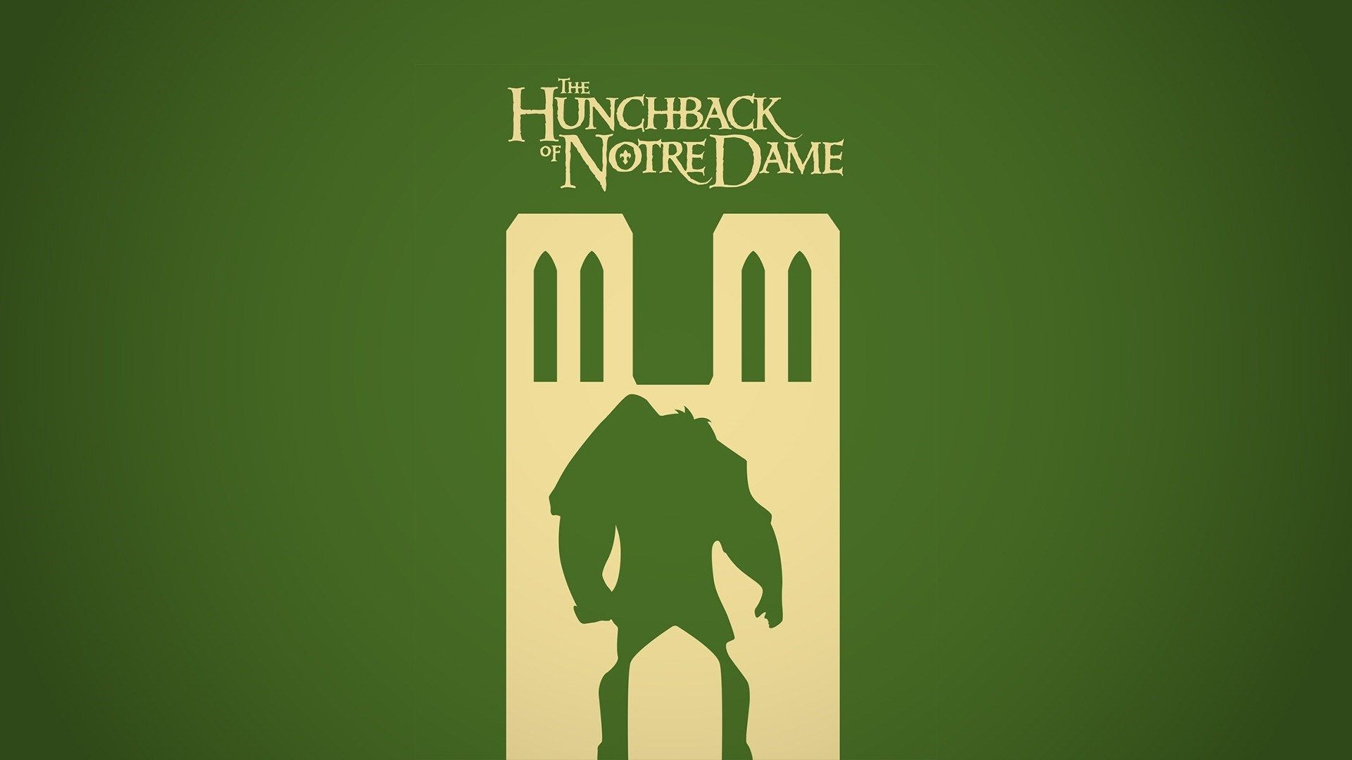 the hunchback of notre dame minimalist monster vector green .