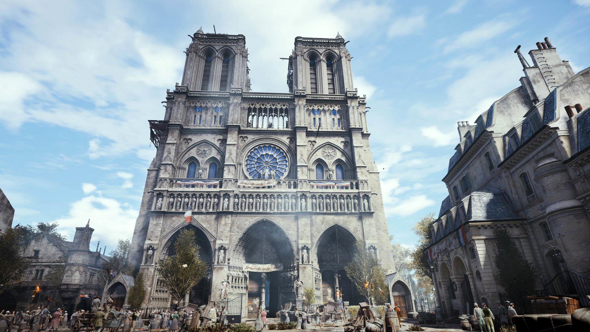 Beautiful Cathedral of Notre-Dame de Paris, Assassin's Creed Unity  wallpaper