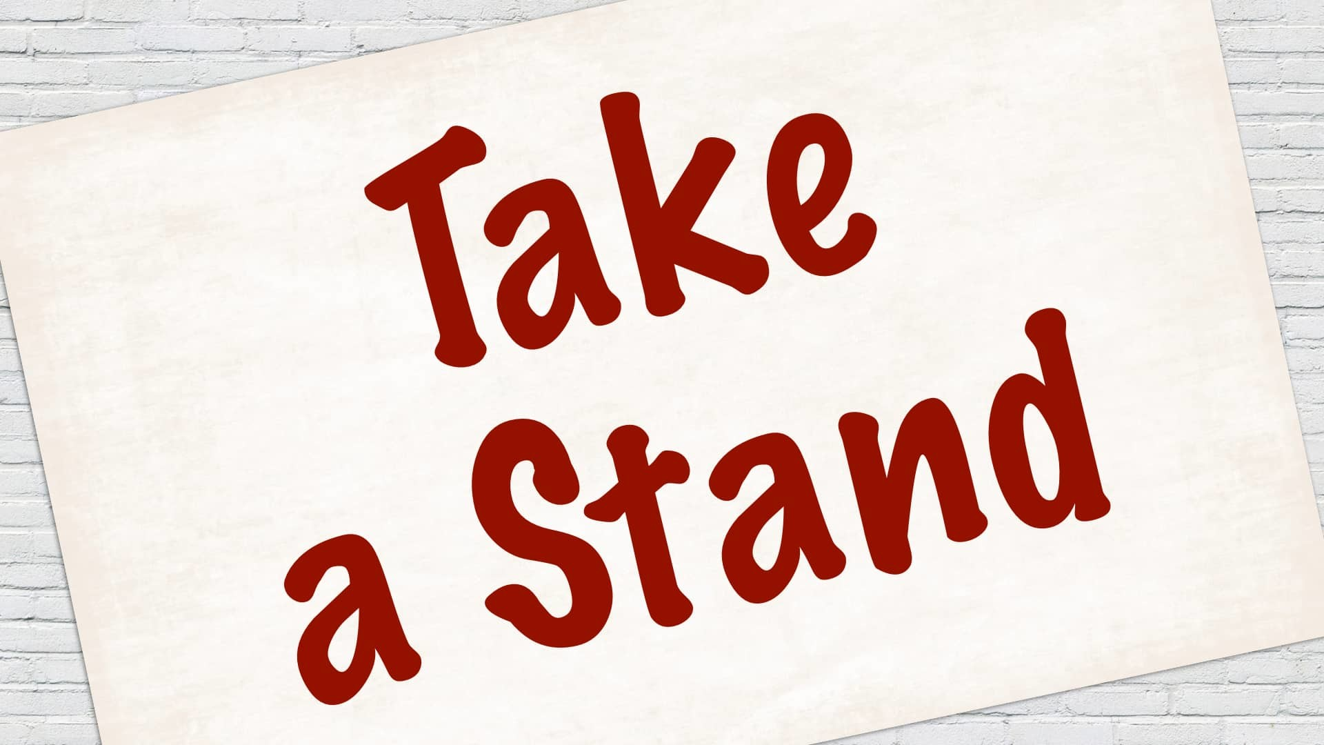 God's Not Dead: What Do You Believe? – Take A Stand