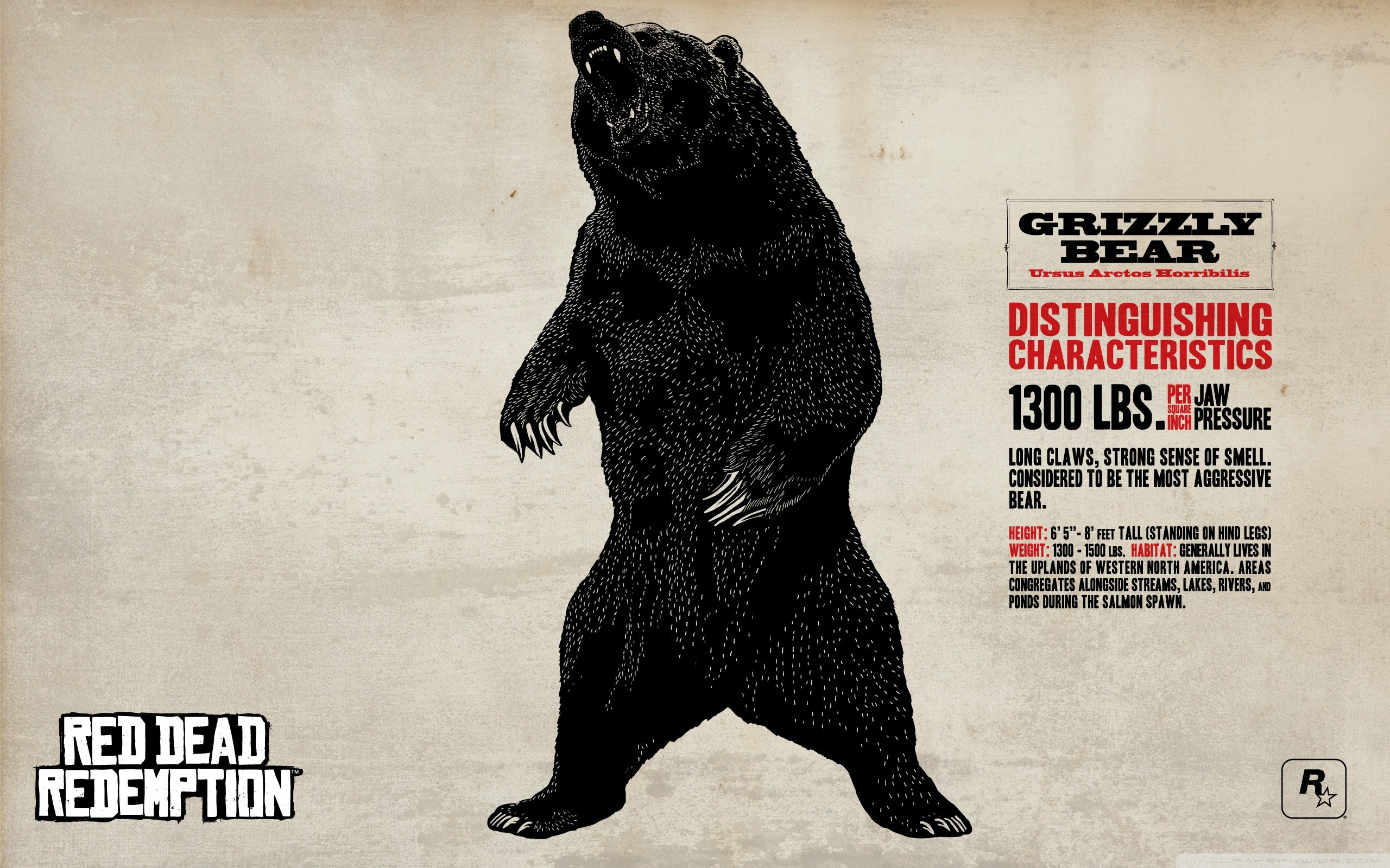 Red Dead Redemption Grizzly Bear HD Wide Wallpaper for Widescreen