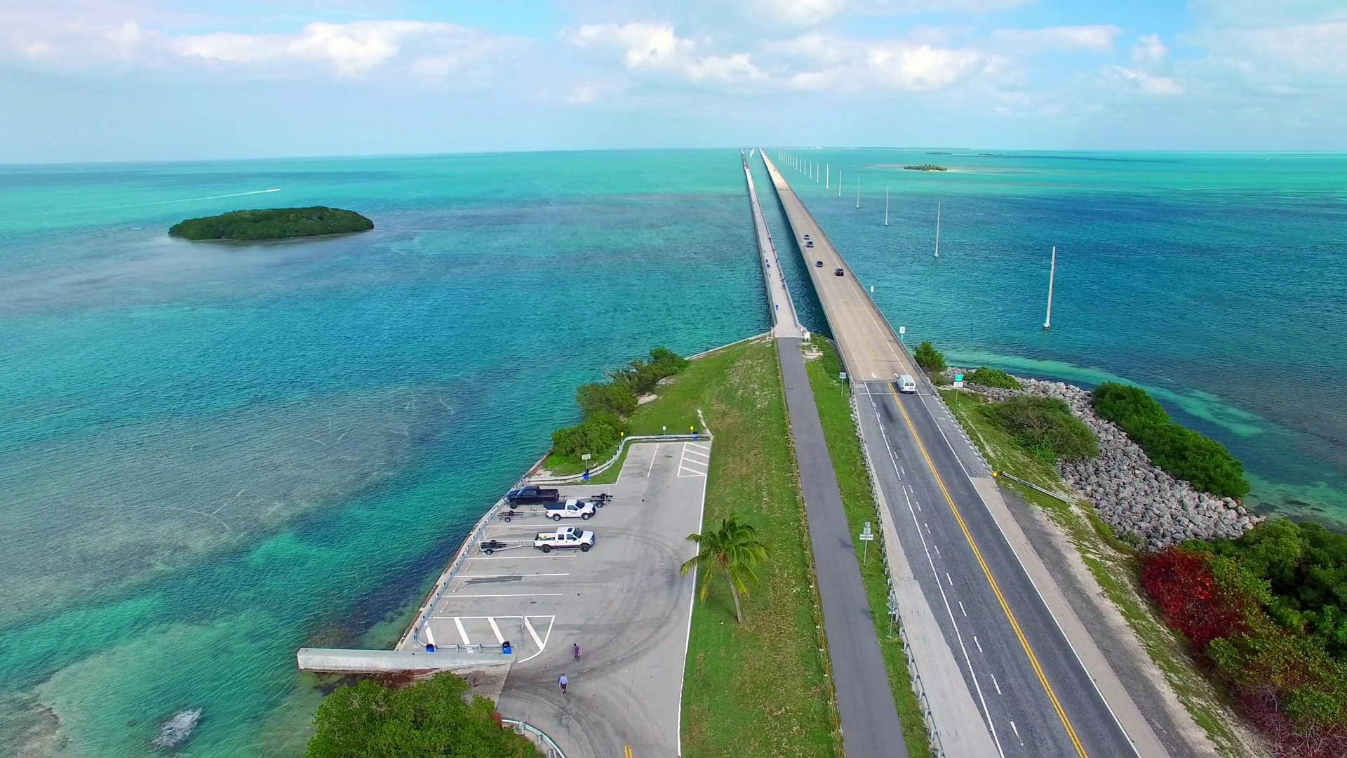 Florida Keys aerial view of Overseas Highway Bridge Stock Video Footage –  VideoBlocks