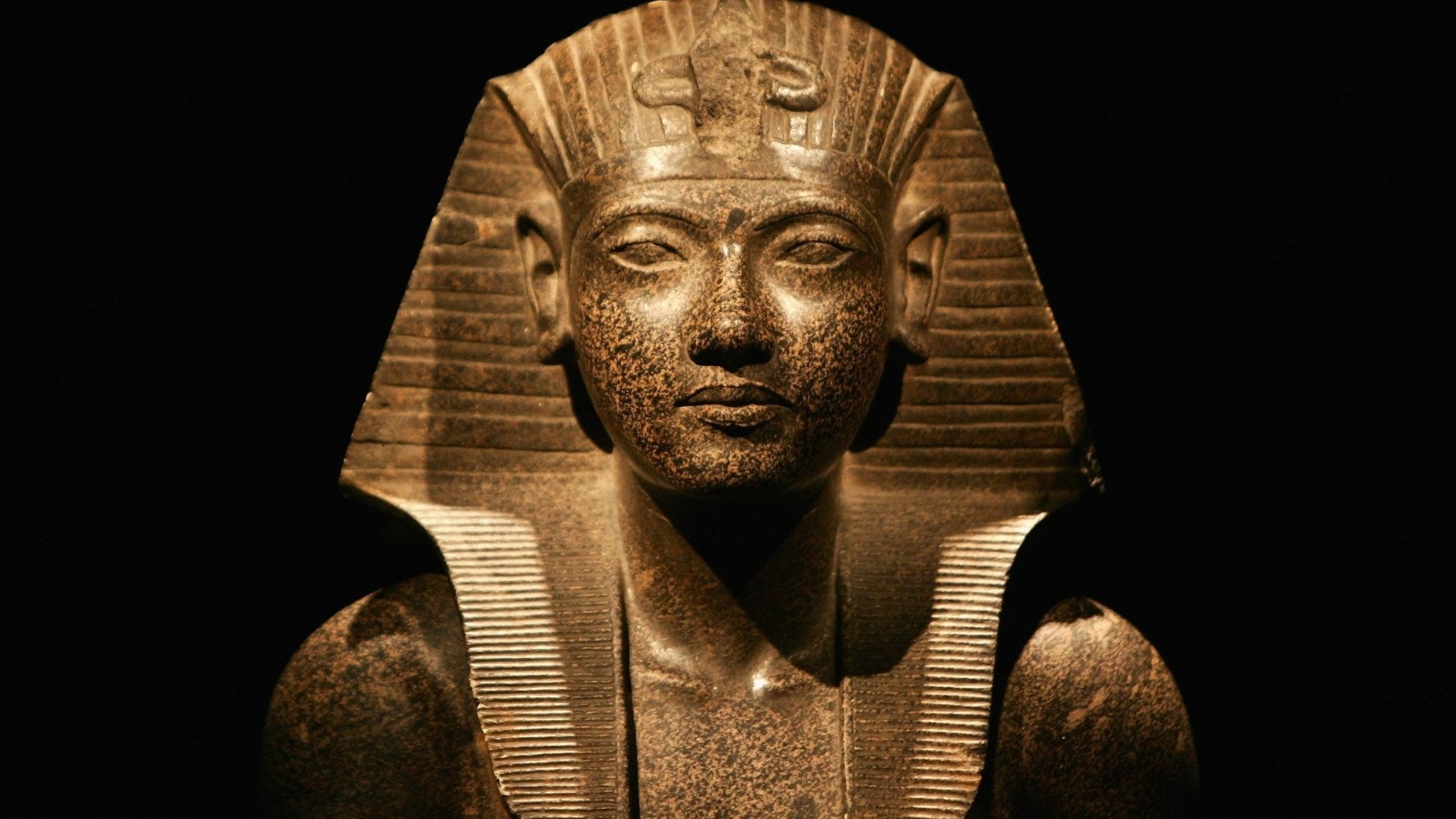 sculpture statue Egypt Pharaoh wallpaper