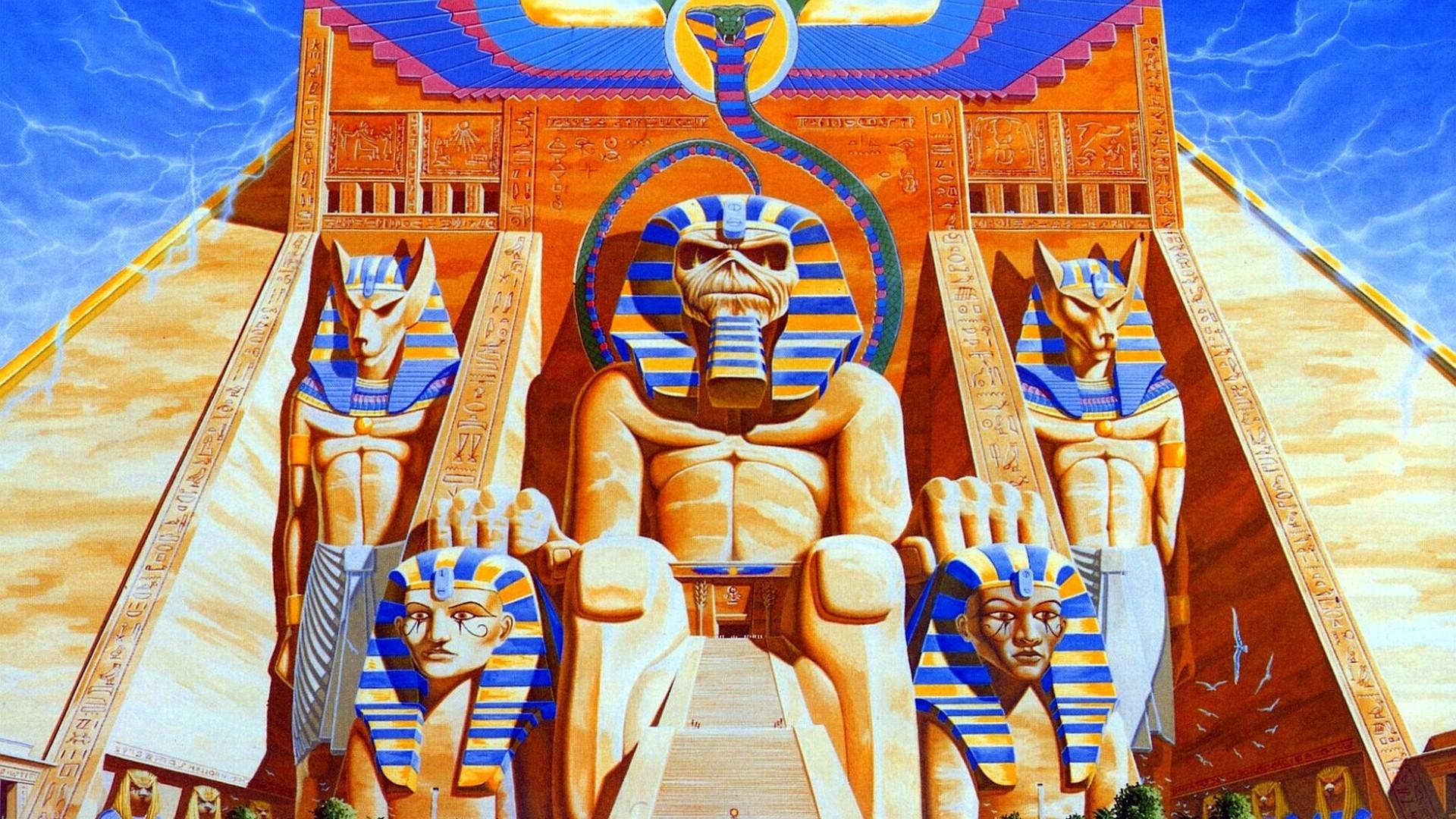Preview wallpaper iron maiden, piramida, pharaohs, history, egypt 1920×1080