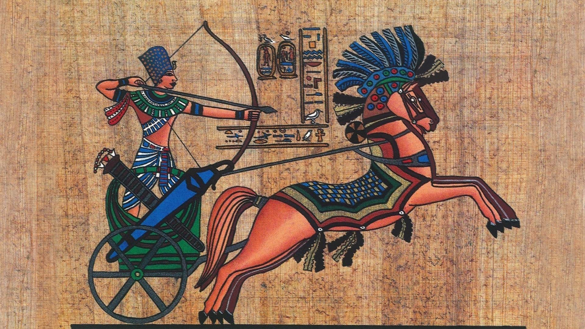 archer, Pharaoh, Men, Animals, Horse, Egypt, Ancient, Hieroglyphics, Bow,  Arrows, Texture, Papyrus Wallpapers HD / Desktop and Mobile Backgrounds