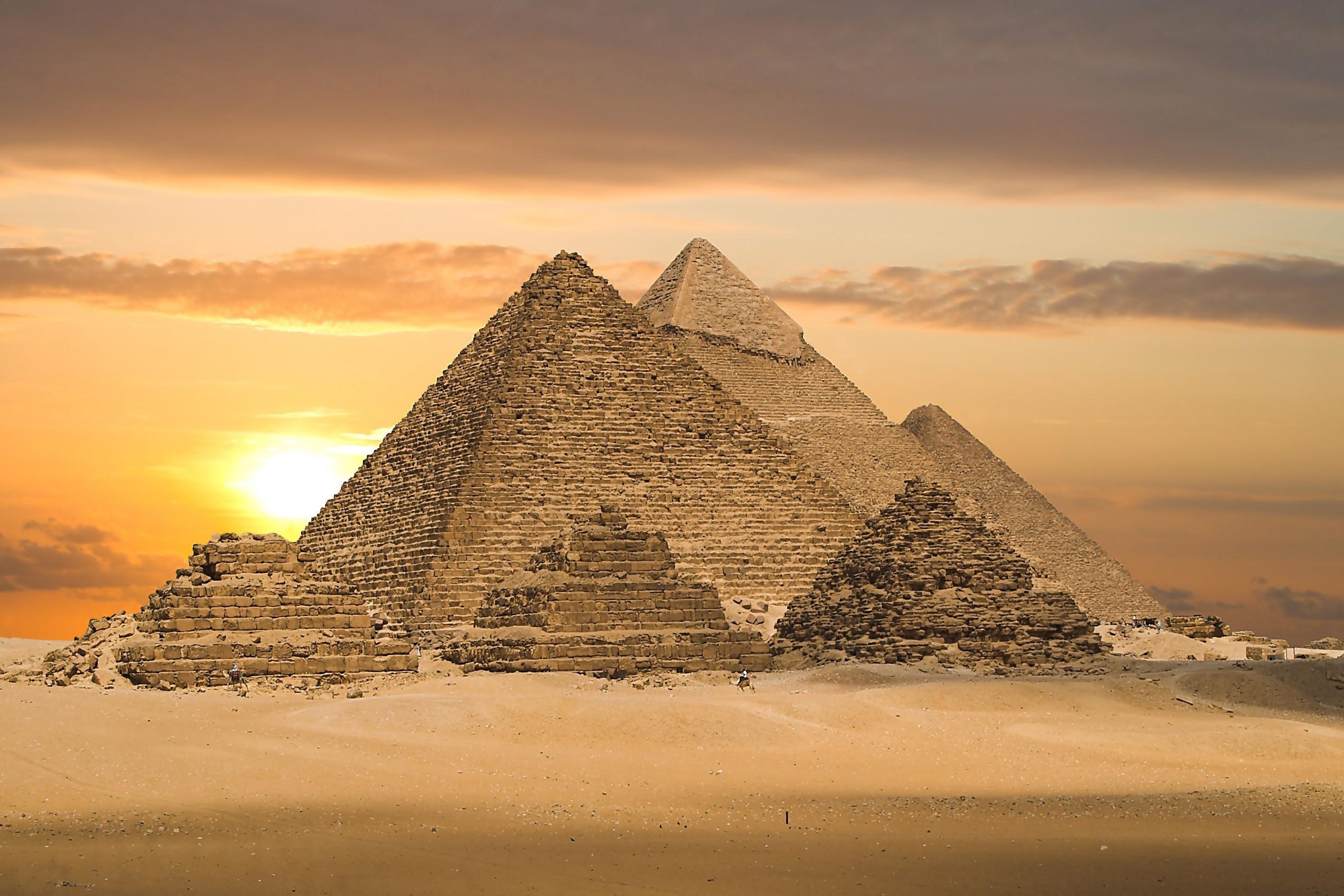 pyramids of egypt ancient building wallpaper KC878 living room home wall  modern art decor wood frame