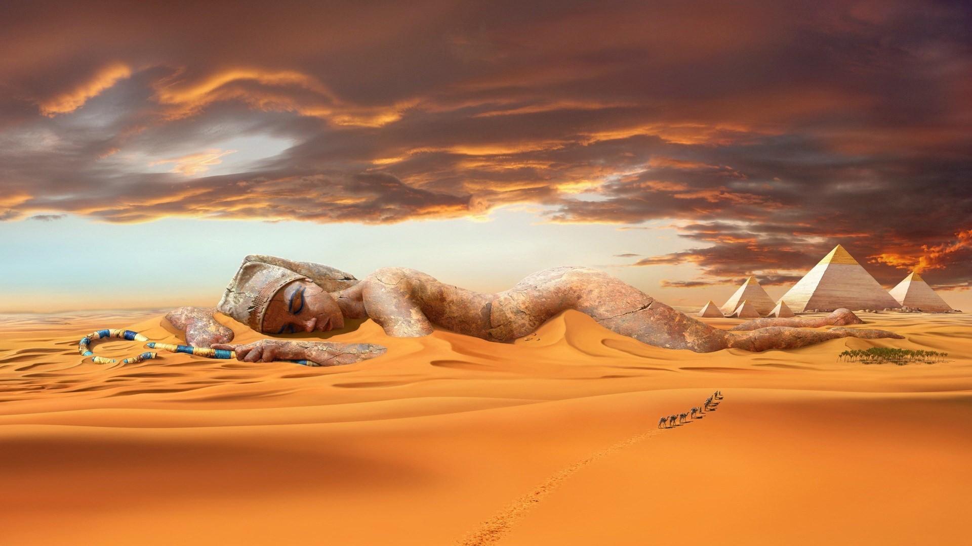 high fashion egypt | View Egypt Desert Statue Oasis Camels Sand HD Wallpaper