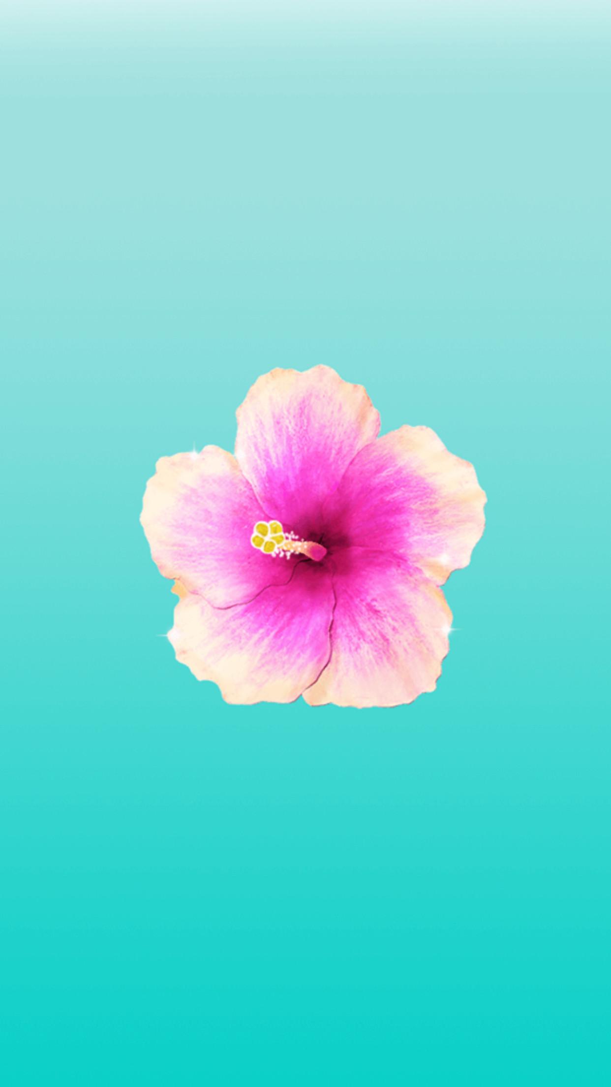 Mint background pink flower