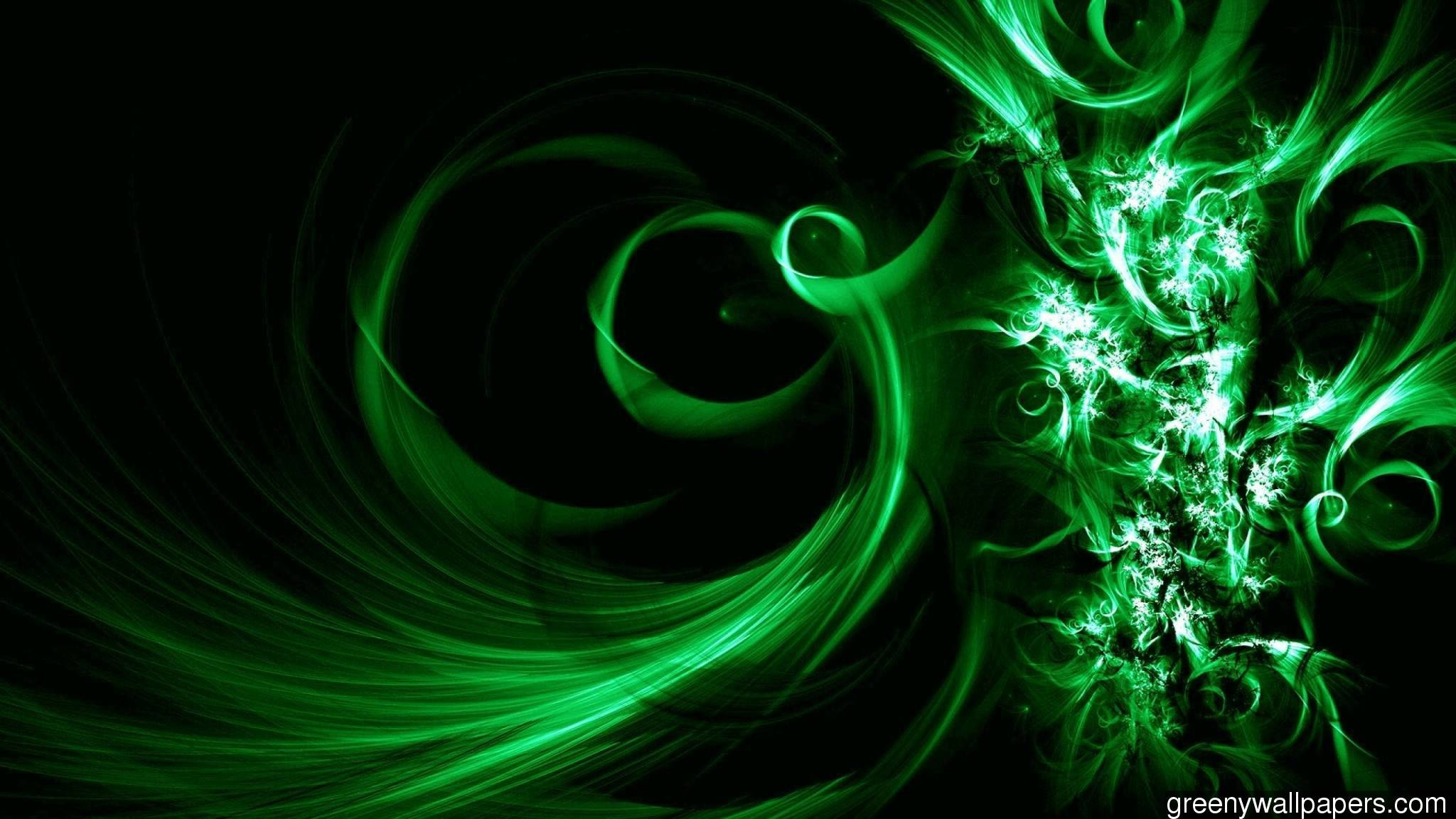 3d Abstract Lime Green Mint 1600×900