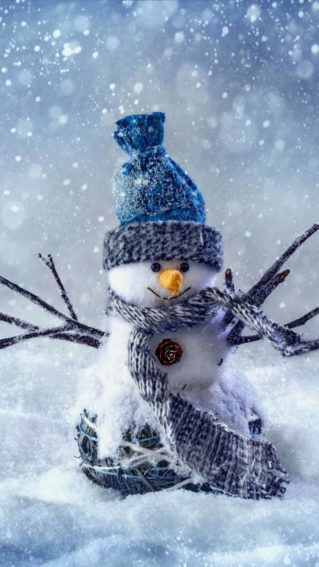 Christmas Snowman New Year #iPhone #6 #plus #wallpaper Merry Christmas!