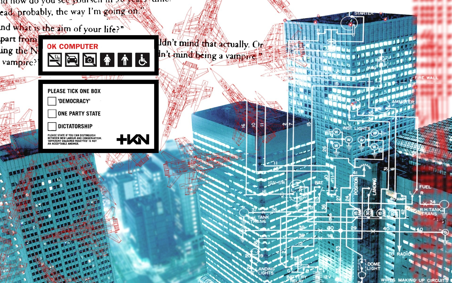 The Radiohead Wallpaper Countdown continues today with the release of OK  Computer. I spoke a few days ago about how Paranoid Android shaped what I  listen to …