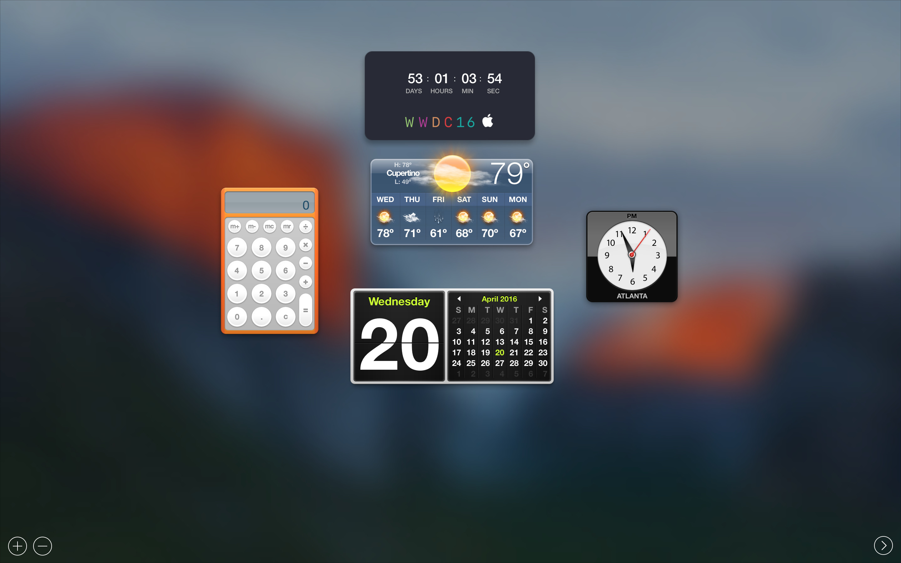 Getting the WWDC 2016 countdown widget for OS X