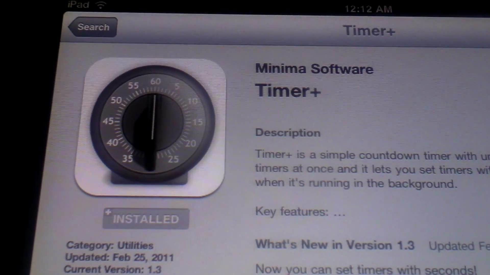 Timer+, countdown timer made simple, iPad / iPad 2 / iPhone / iPod Touch HD  – YouTube