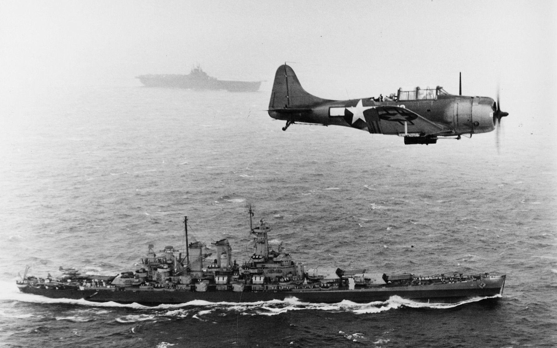 World War 2, battleship, washington, aircraft, HD .