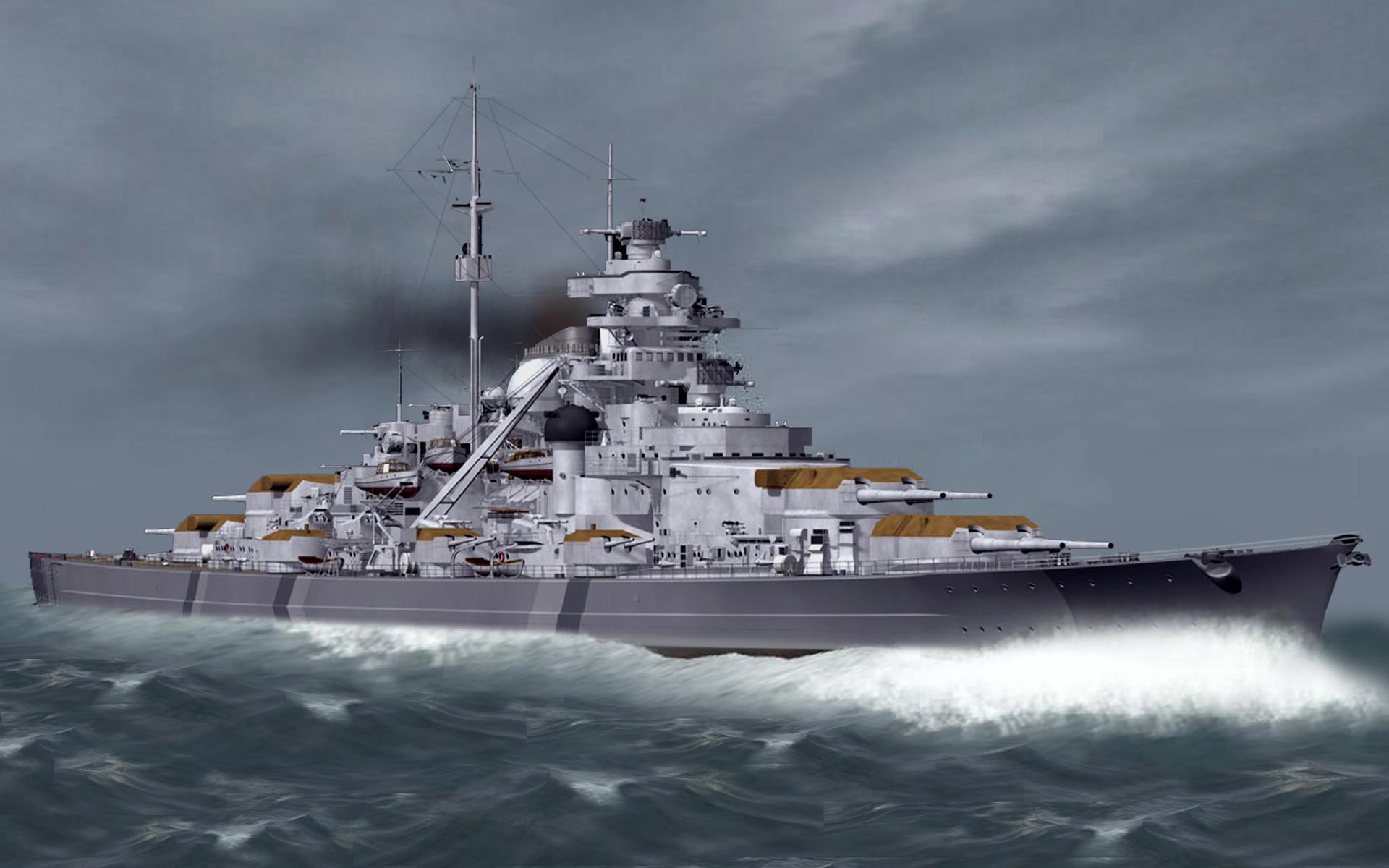 Artwork Battleships Bismarck Battleship History Military World War II