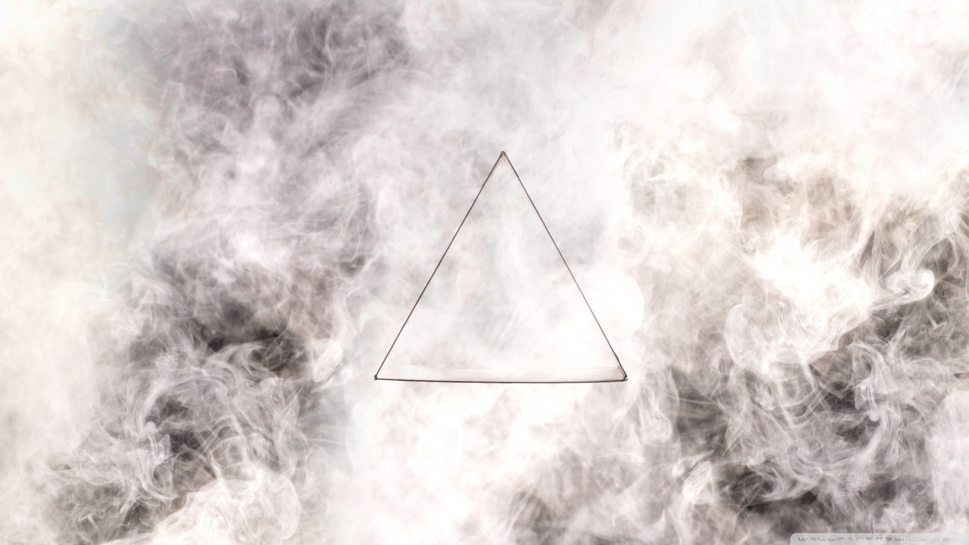 triangle, Minimalism, Smoke Wallpapers HD / Desktop and Mobile Backgrounds