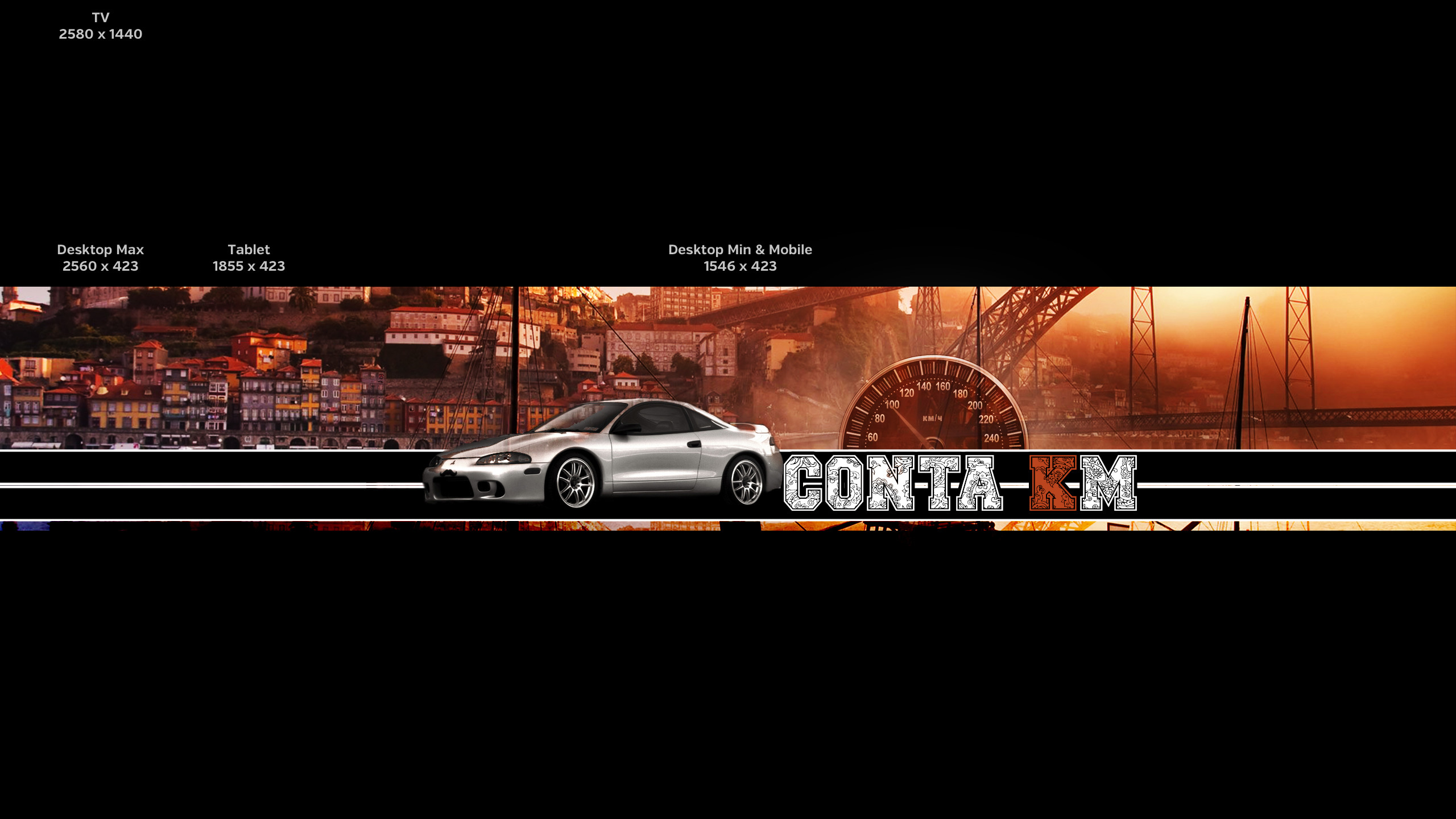 This is the banner that I'm working for my Car Channel, wut do you guys  think? Wut would you change? I'm not very experienced with photoshop!