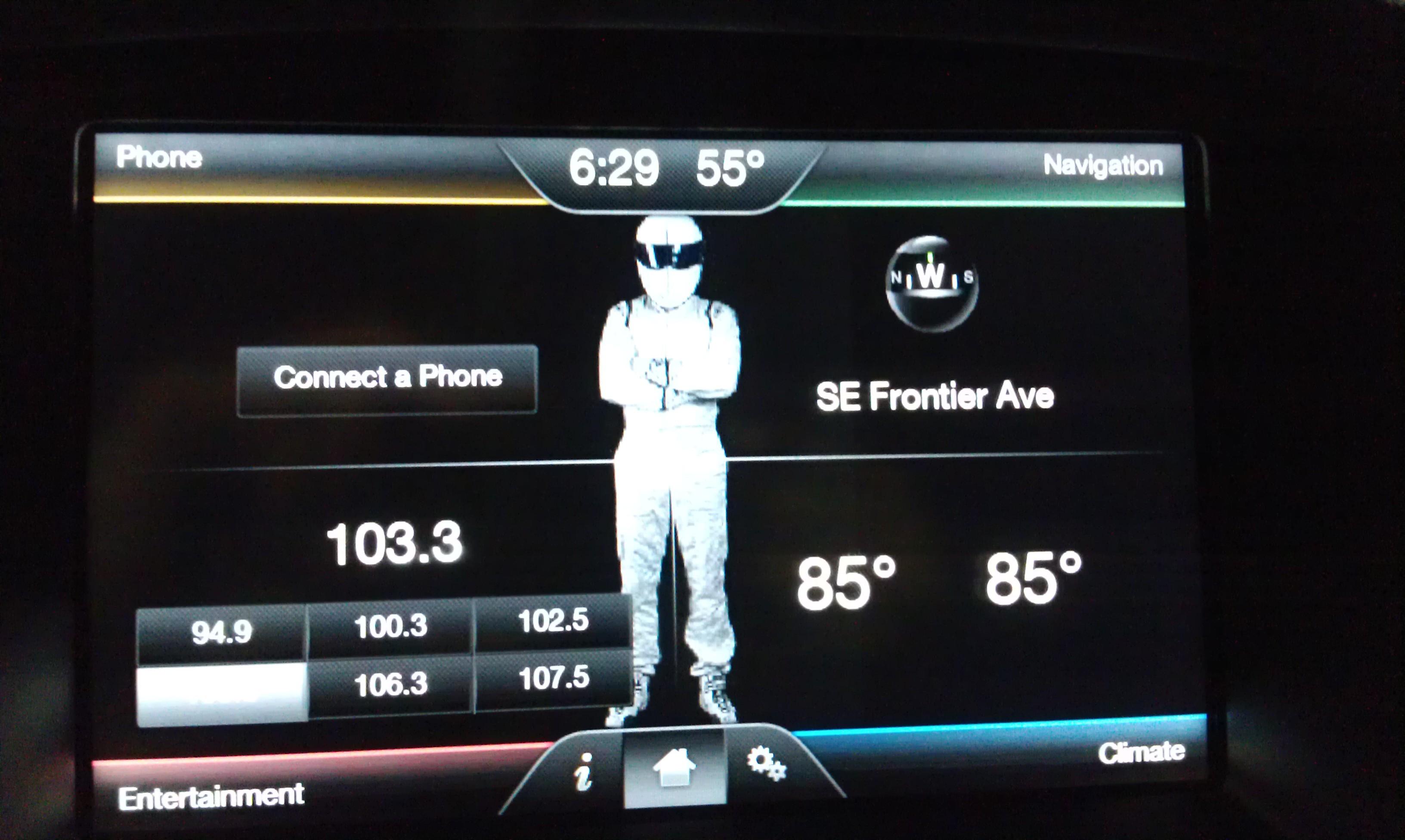 Re: Screensaver on navigation screen