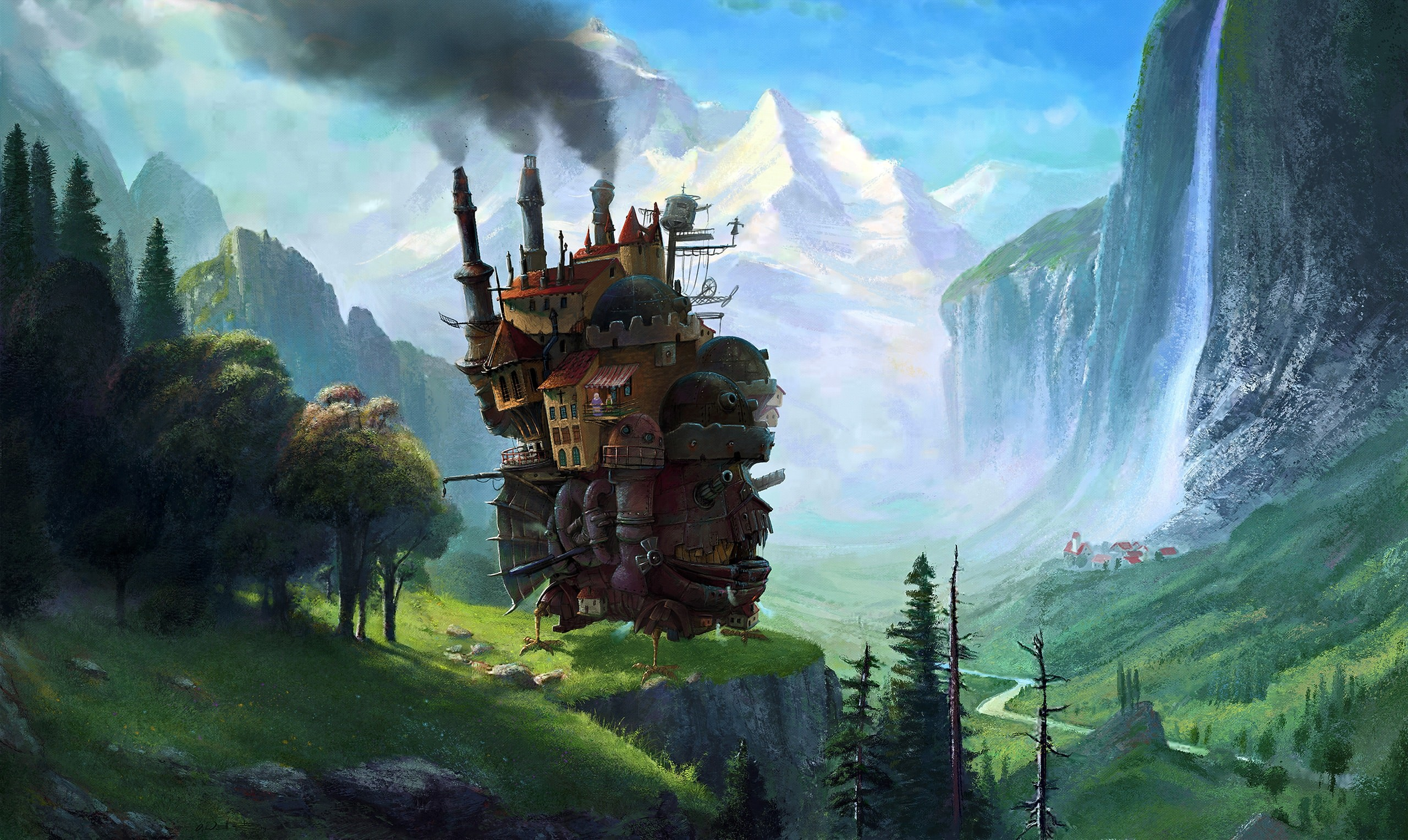 Howl's Moving Castle hd wallpaper