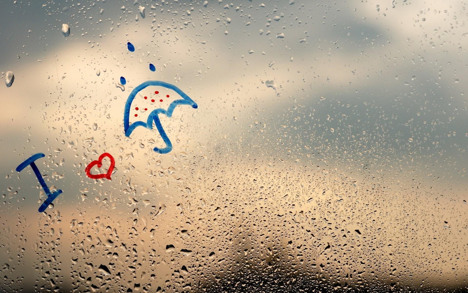 rainy day window raindrops rain