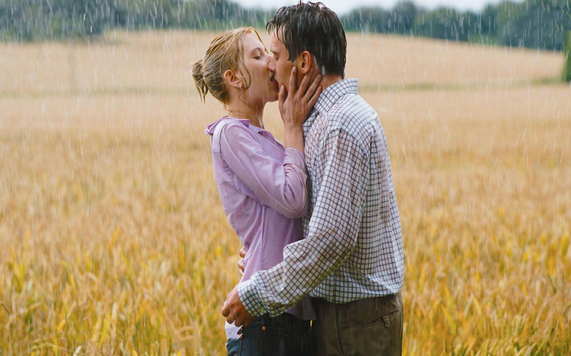 Rainy Day Couple Wallpaper