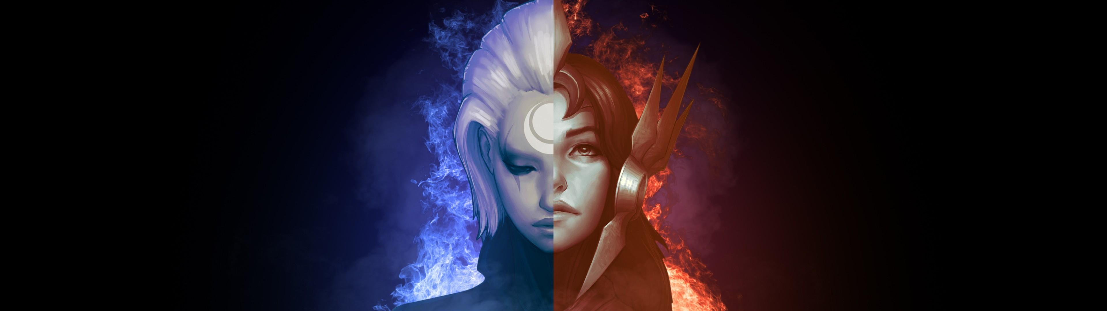 Video Game – League Of Legends Leona (League Of Legends) Diana (League Of