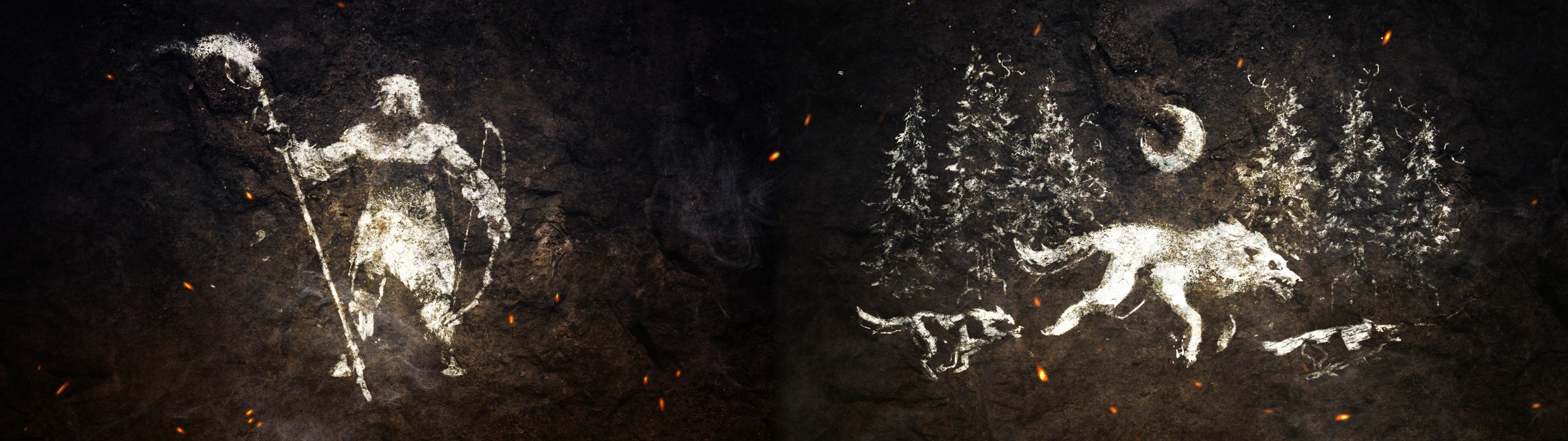Made a FarCry: Primal Dual Monitor Wallpaper [3840×1080]