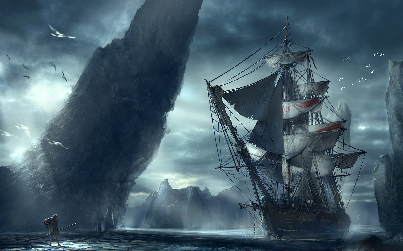 Ghost Pirate Ship Wallpaper Hd