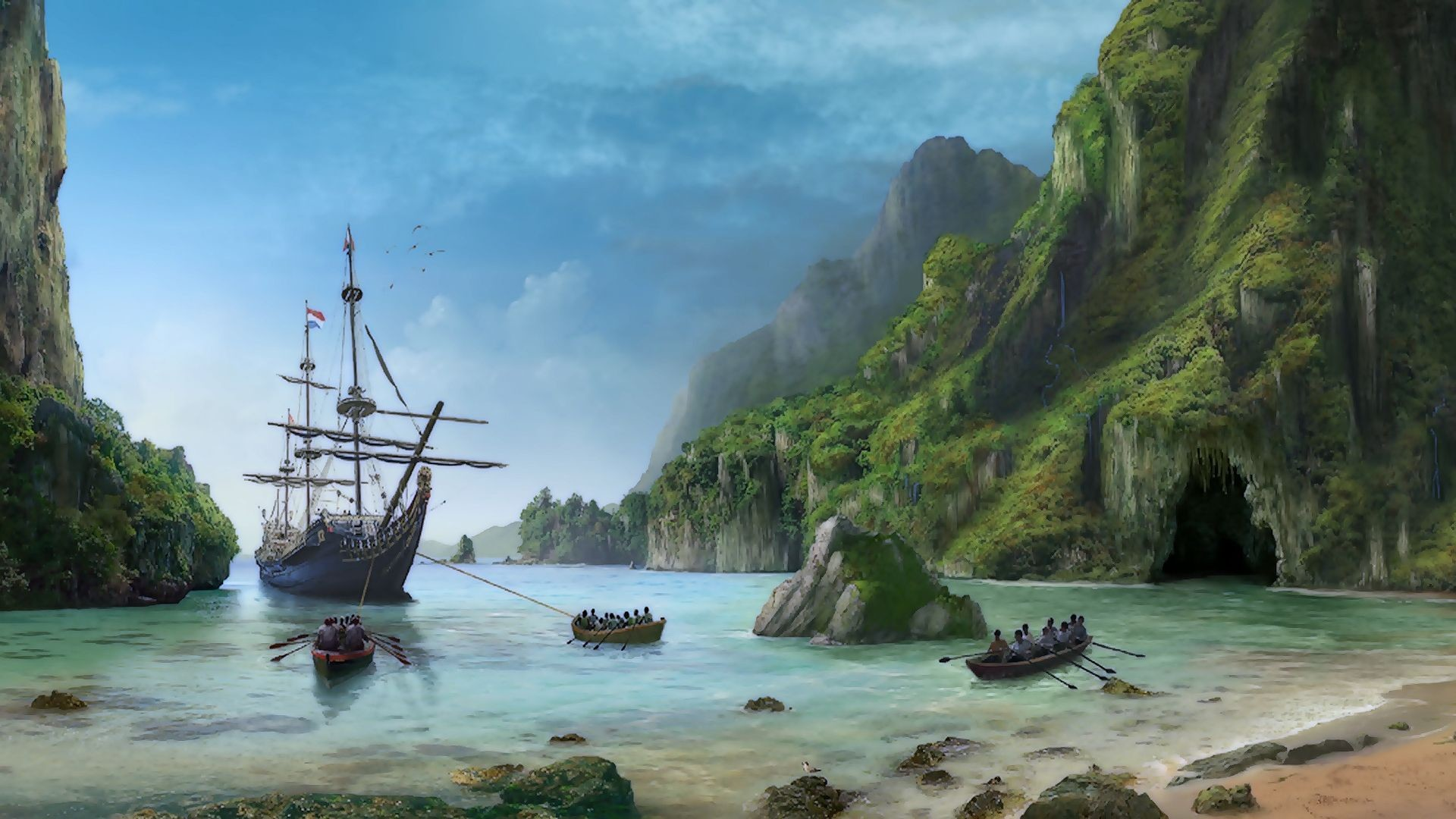 Pirate Background   Sunken Pirate Ship Wallpaper   pirate madness … –  Wallpaper Zone