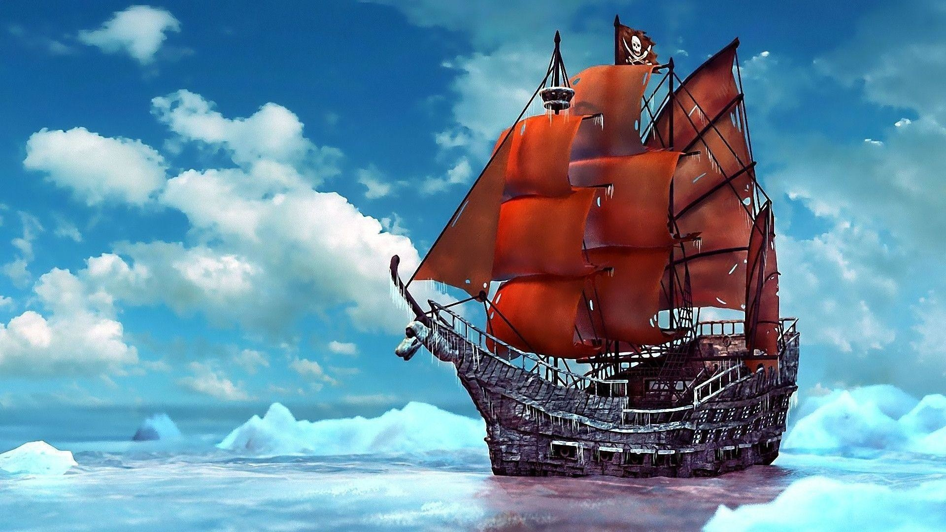 Pirate Ships Wallpaper, City & Travel Wallpaper, hd phone .