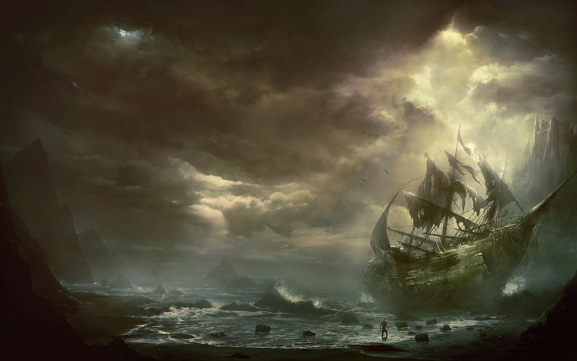 Ghost Pirate Ship Wallpaper Hd Resolution
