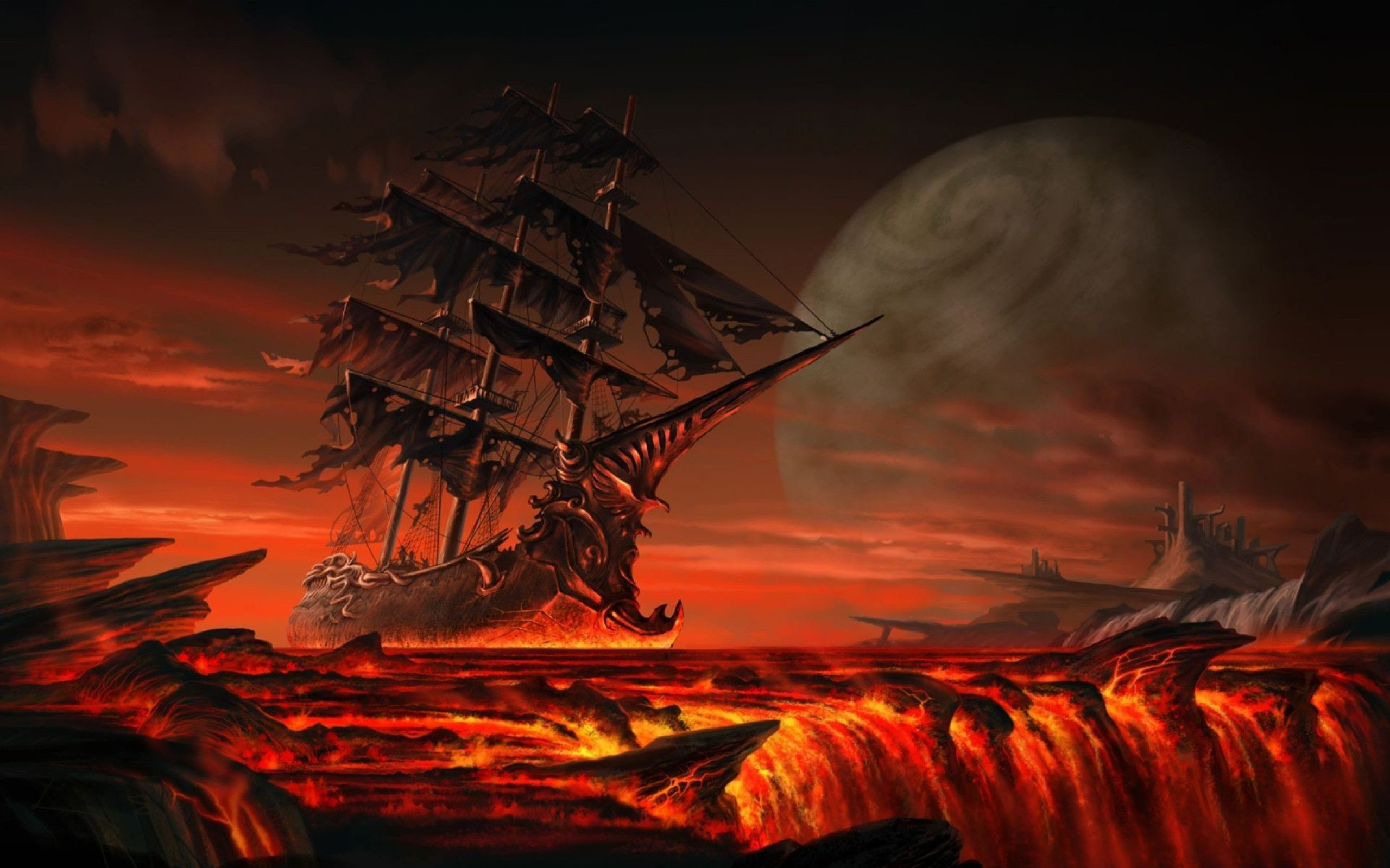 Ghost Pirate Ship Wallpapers Free As Wallpaper HD