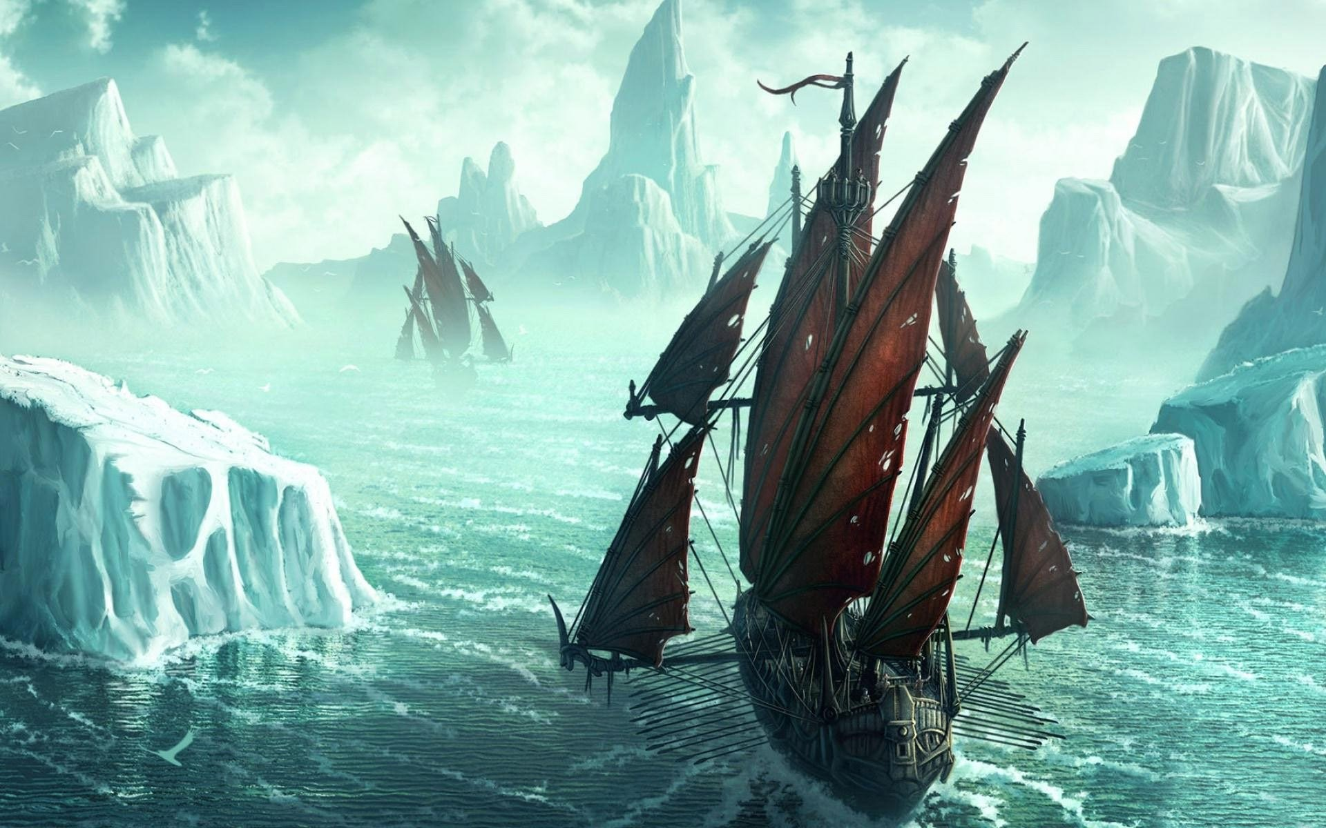 Pirate Ships In Icy Waters …