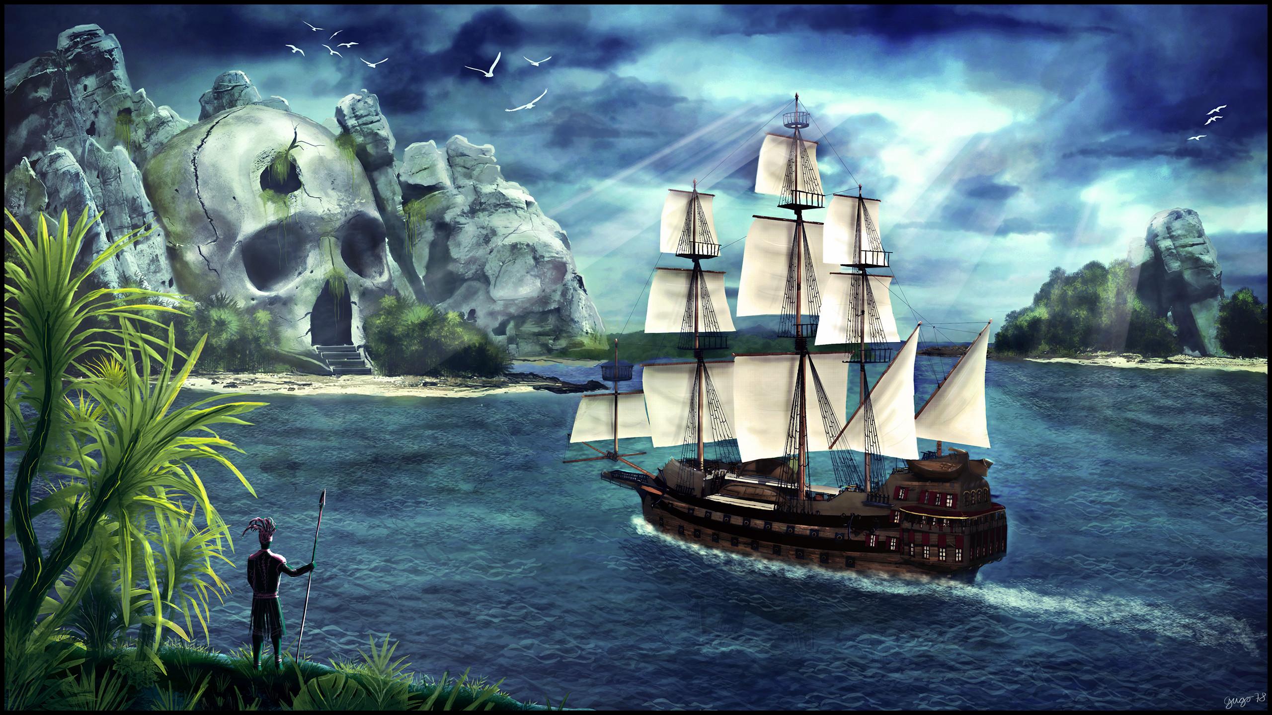 Pirate Ship Skull