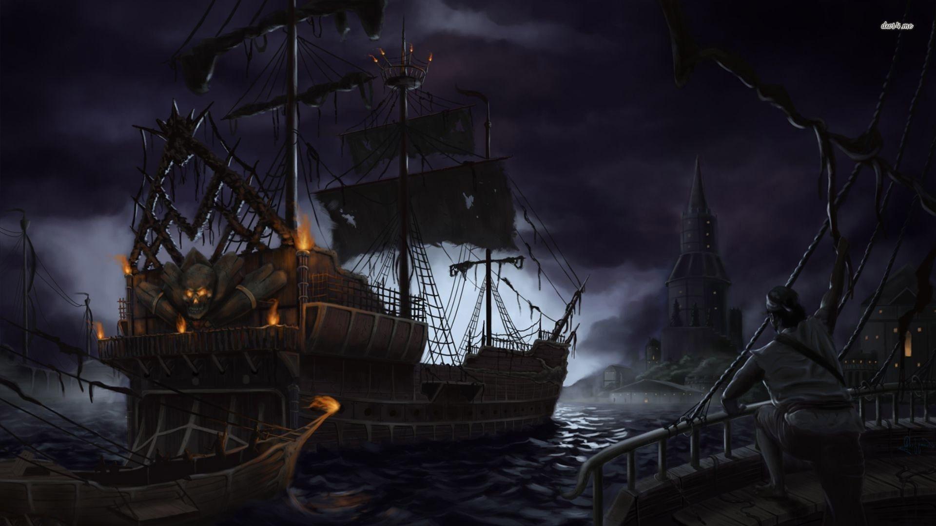 Pirate ship wallpaper – Fantasy wallpapers – #10855
