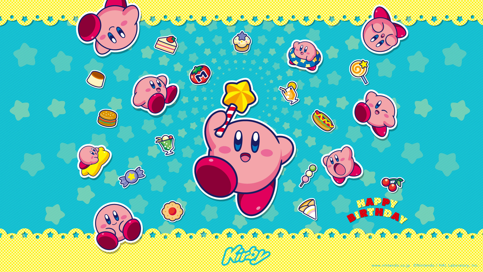 """Kirby """"Happy Birthday"""" official wallpaper available"""