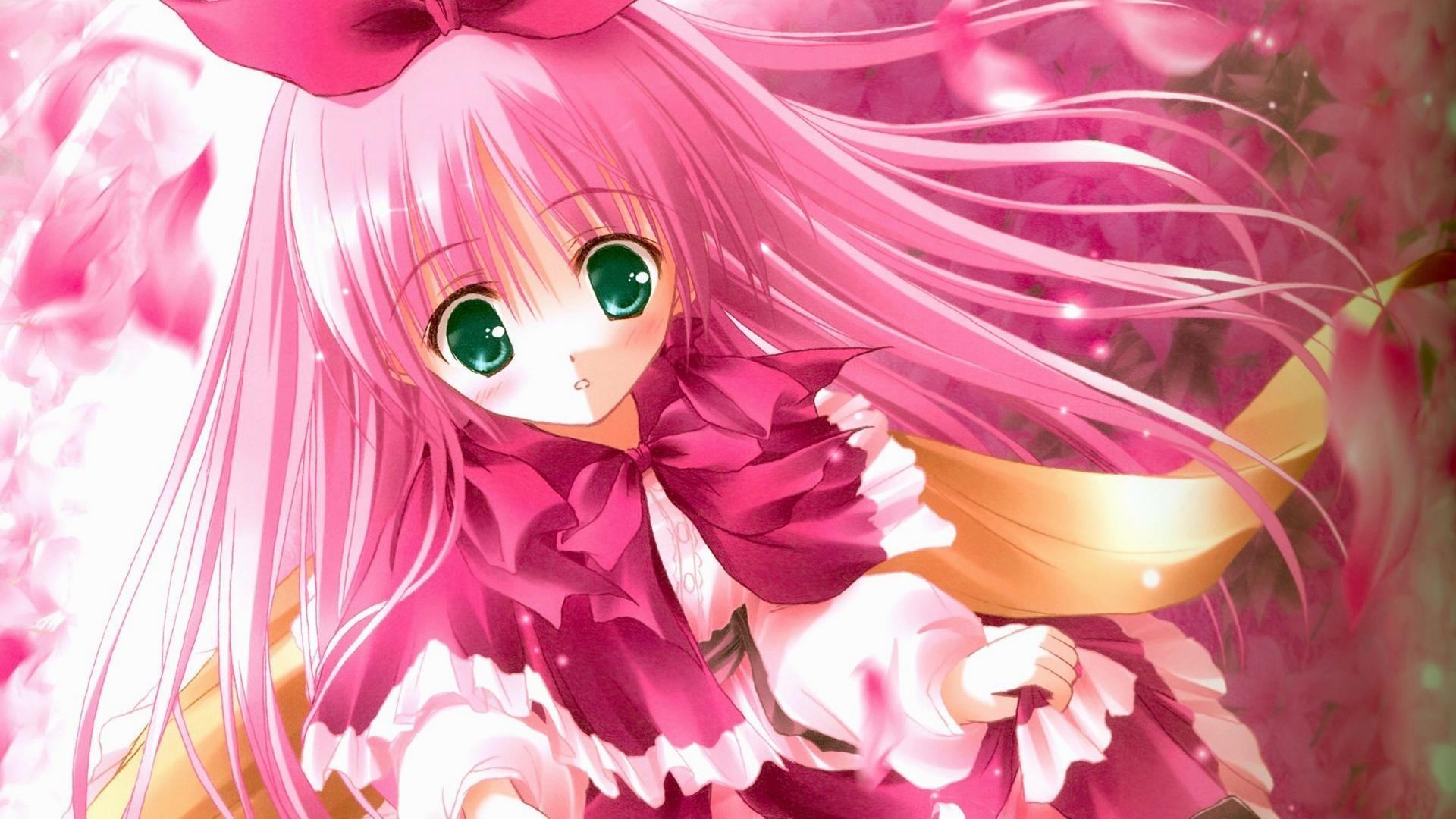 Cute-pink-hair-anime-girl-wallpapers-1920×1080
