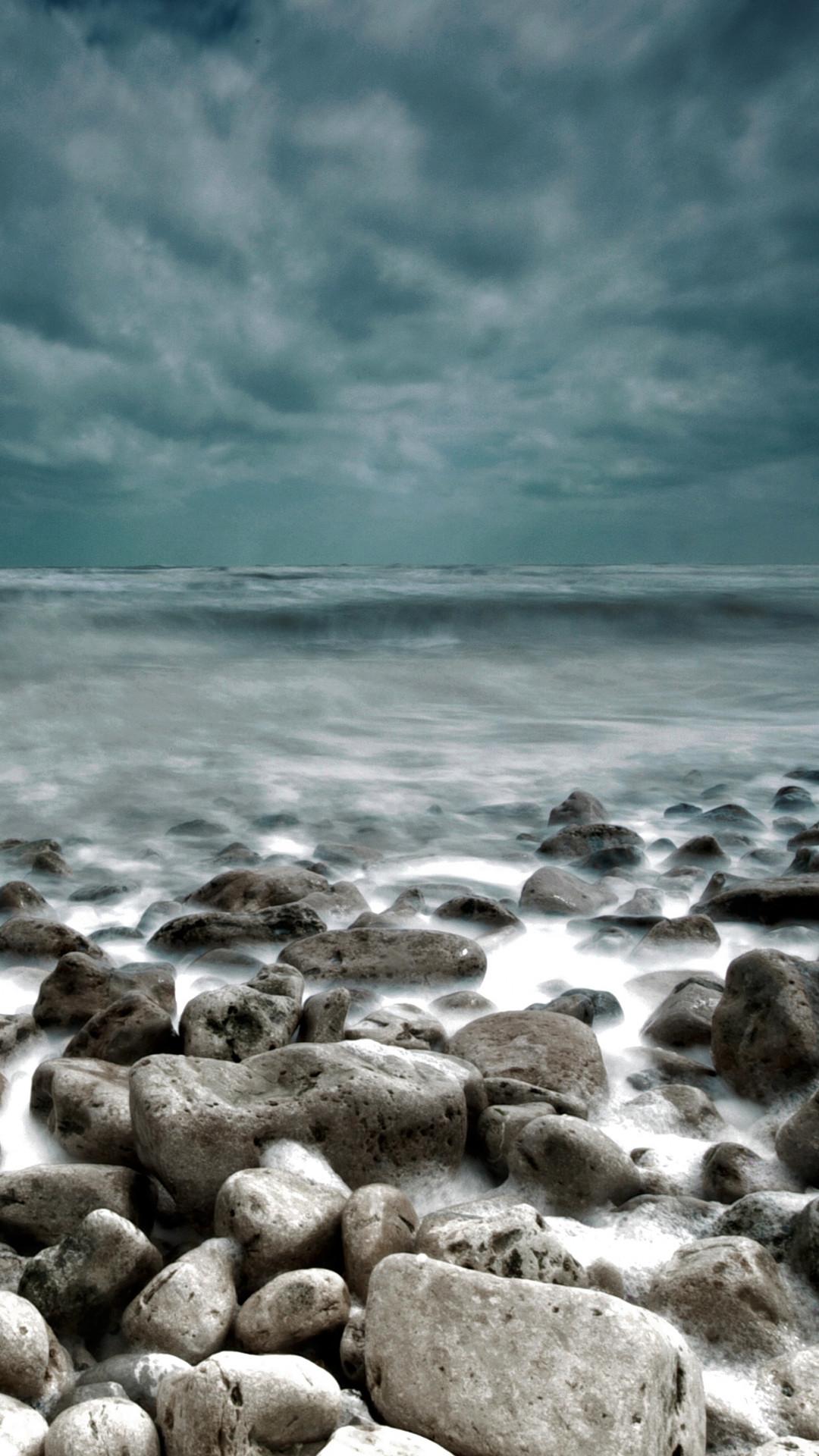 Rough Sea Rocks Waves Lockscreen Android Wallpaper …