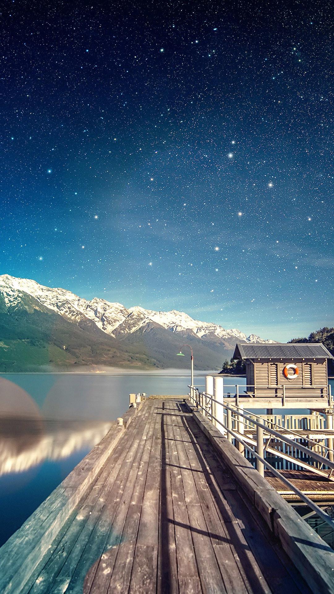 <b>star shiny lake sky for iphone lockscreen wallpapers</b>
