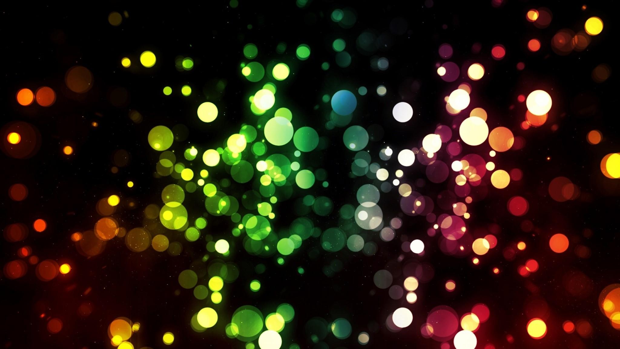 Preview wallpaper pixels, colorful, circles 2048×1152